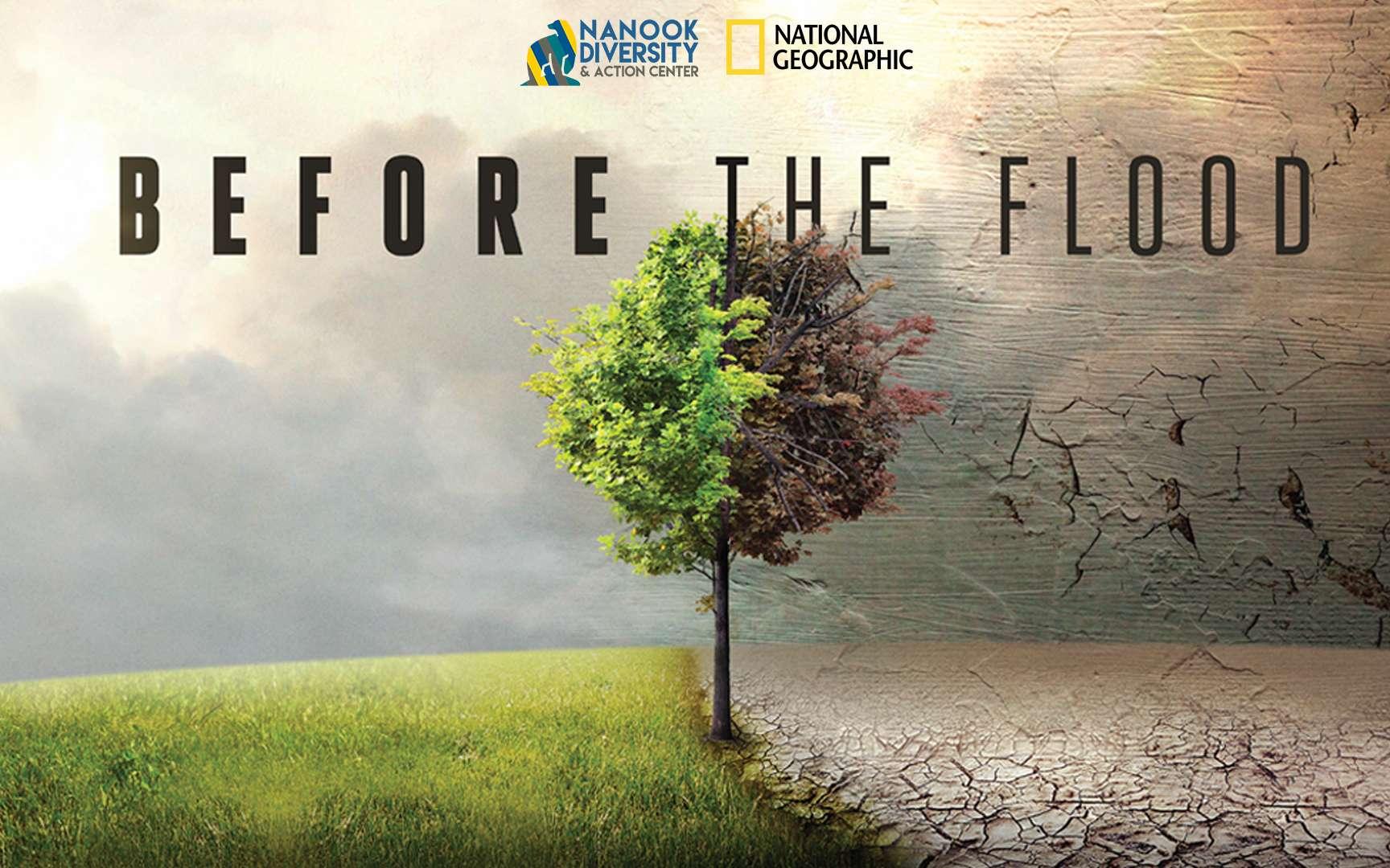 Affiche du documentaire Avant le déluge, produit par Leonardo DiCaprio. © National Geographic