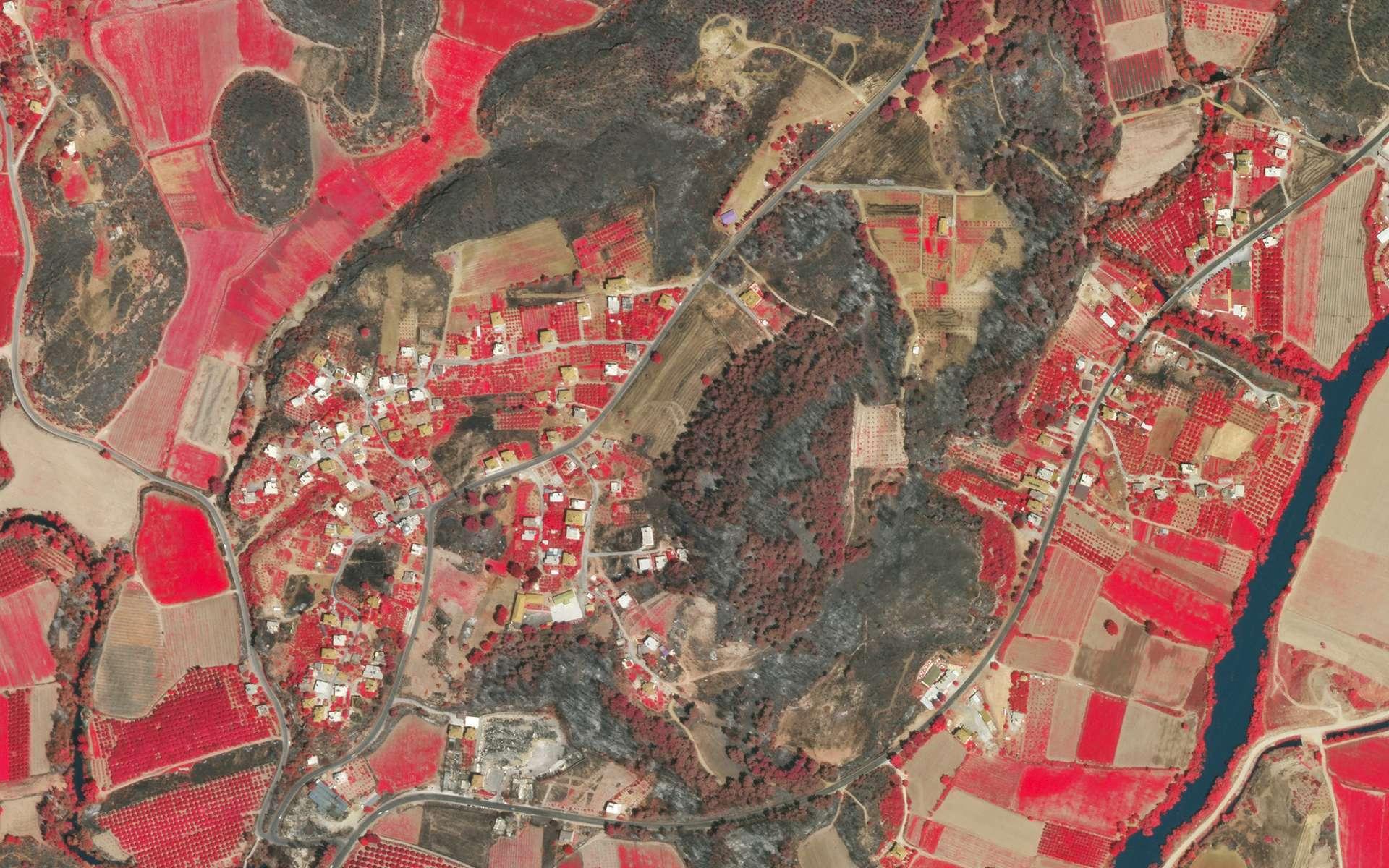 Les localités turques de Manavgat et Dikmen ont été touchées par des incendies. © 2021 Planet Labs, Inc