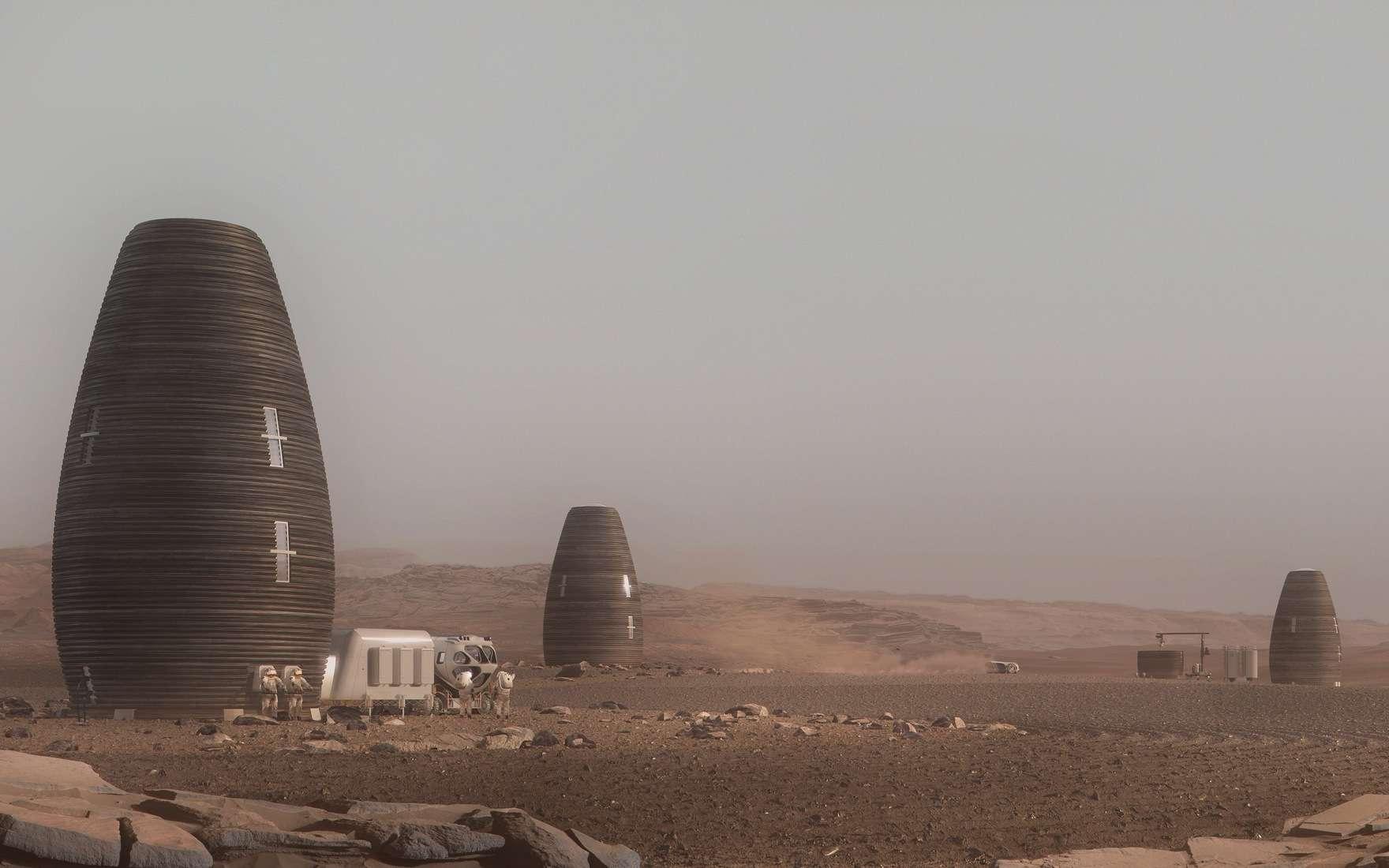 Concept d'habitat sur Mars développé par AI. SpaceFactory. © AI. SpaceFactory