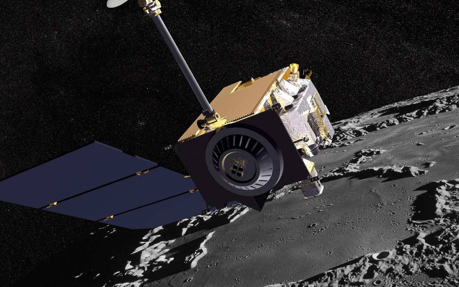 La sonde LRO s'emploie à localiser les ressources naturelles de la Lune qui pourraient être utilisées plus tard. Crédit Nasa