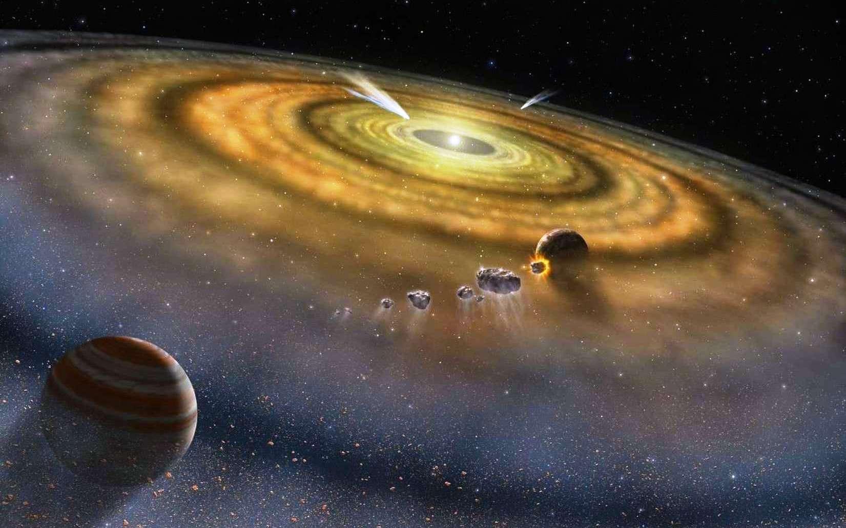 La découverte récente de six nouvelles exocomètes semble confirmer l'idée que ces corps célestes seraient aussi communs que les exoplanètes. © Nasa, Fuse, Lynette Cook