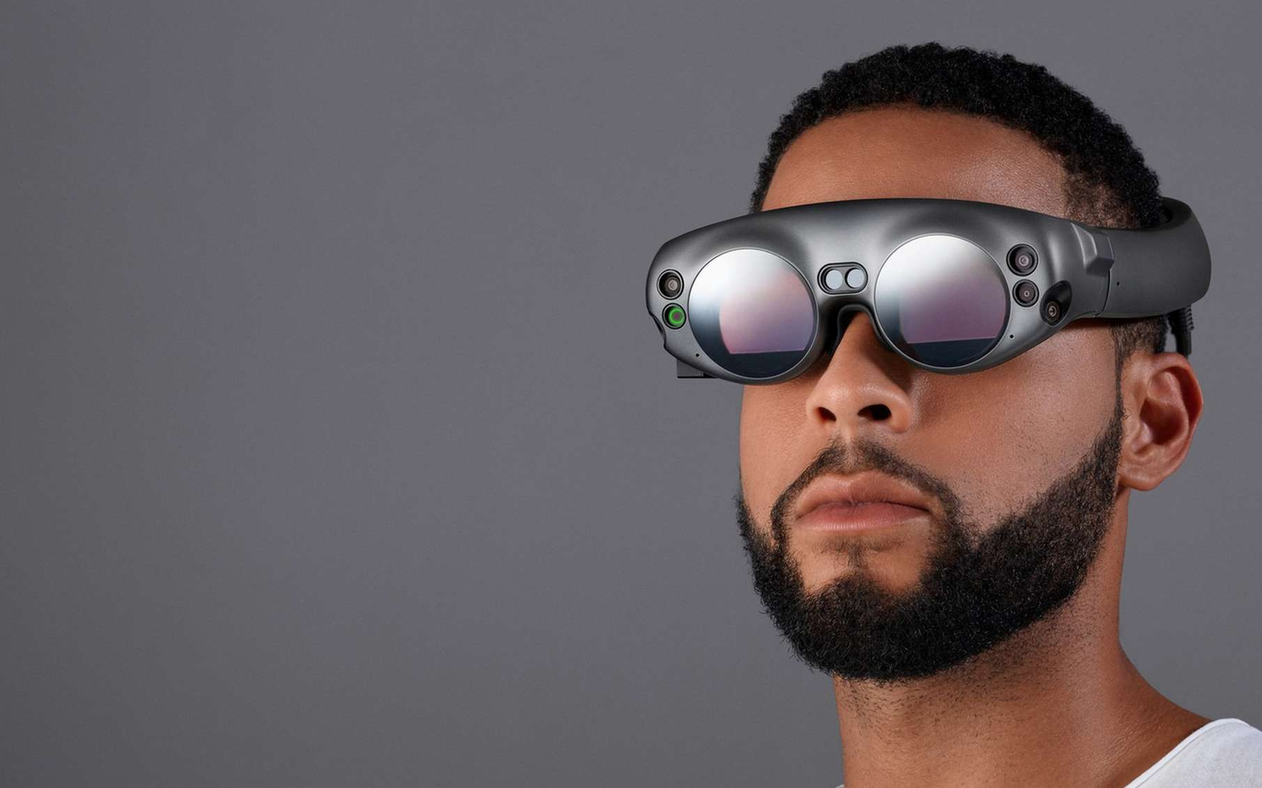 Les lunettes de réalité augmentée Magic Leap One présentent un design qui n'est pas sans rappeler un style vu dans certains films de science-fiction. © Magic Leap