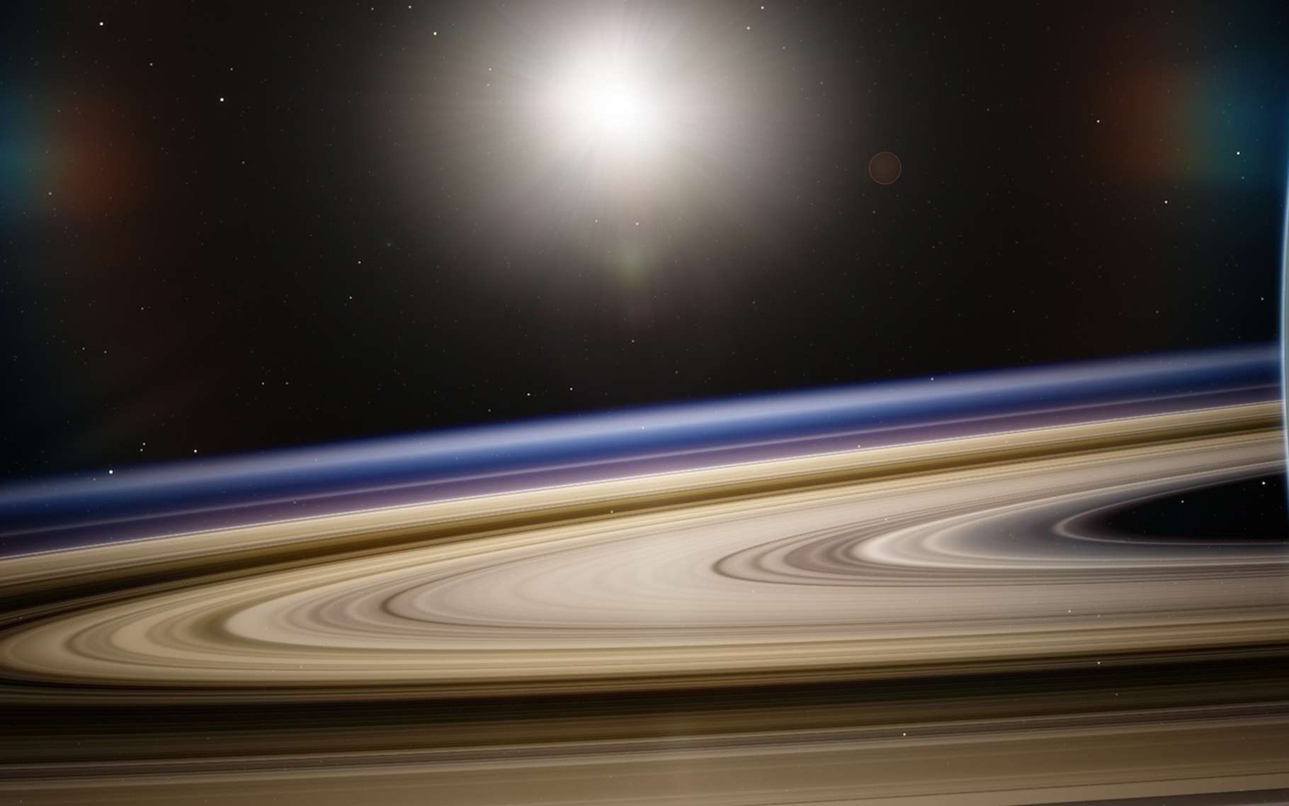 Selon la Nasa, Saturne est une intense source d'émissions radio. Quelques-unes de ces dernières ont été sélectionnées pour intégrer une compilation spécial Halloween de bruits venus de l'espace. © flflflflfl, Pixabay, CC0