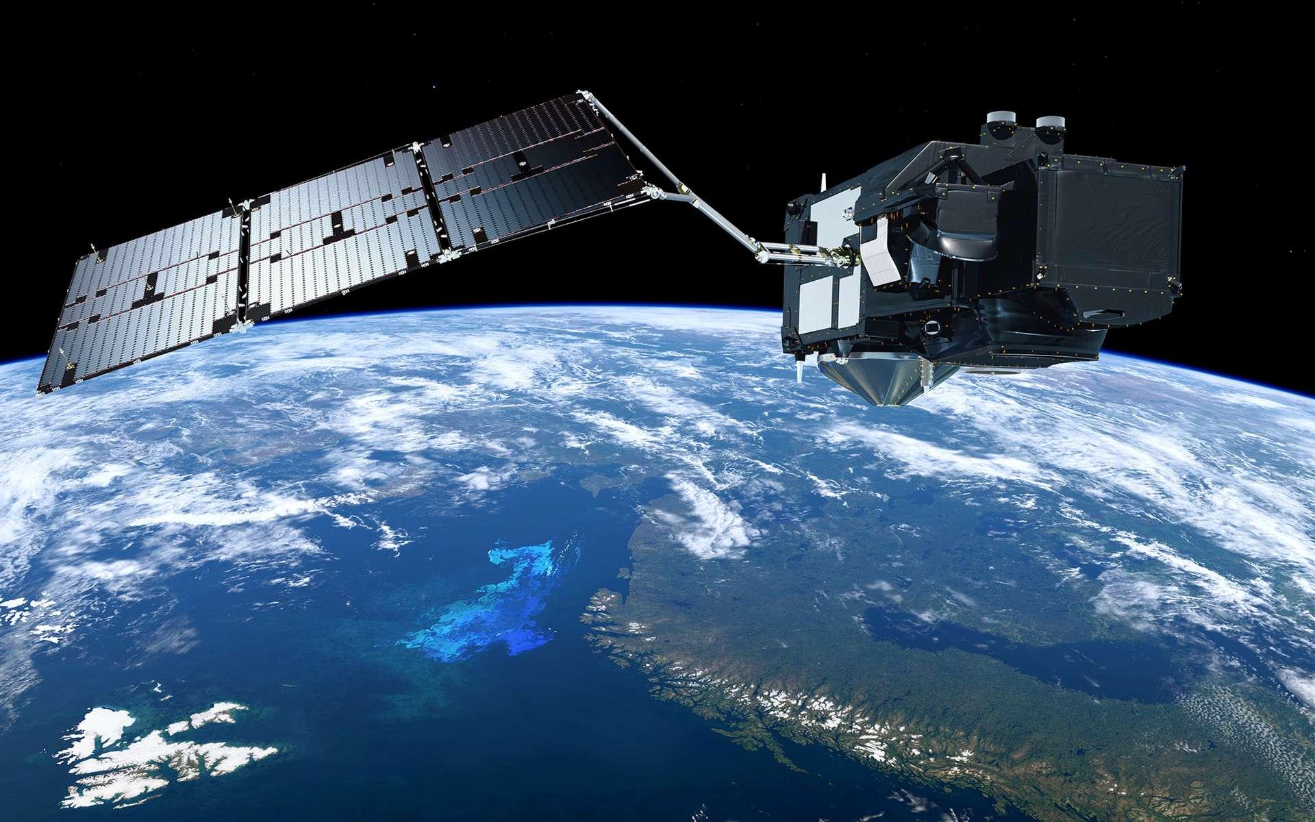 Le satellite Sentinel 3B s'apprête à décoller. Ici, un satellite Sentinel 3. Financés par la Commission européenne et l'Agence spatiale européenne (ESA), les satellites Sentinel 3 sont construits par Thales Alenia Space et opérés par Eumetsat. © S. Corvaja, ESA