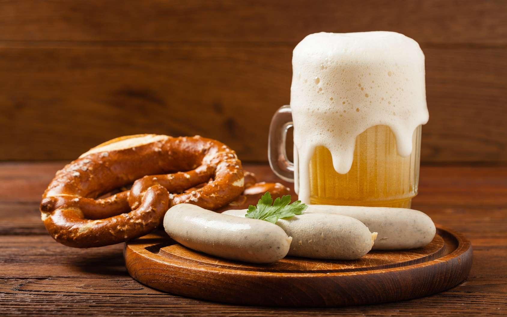 Durant l'Oktoberfest, la gastronomie bavaroise est à l'honneur. © gkrphoto, fotolia