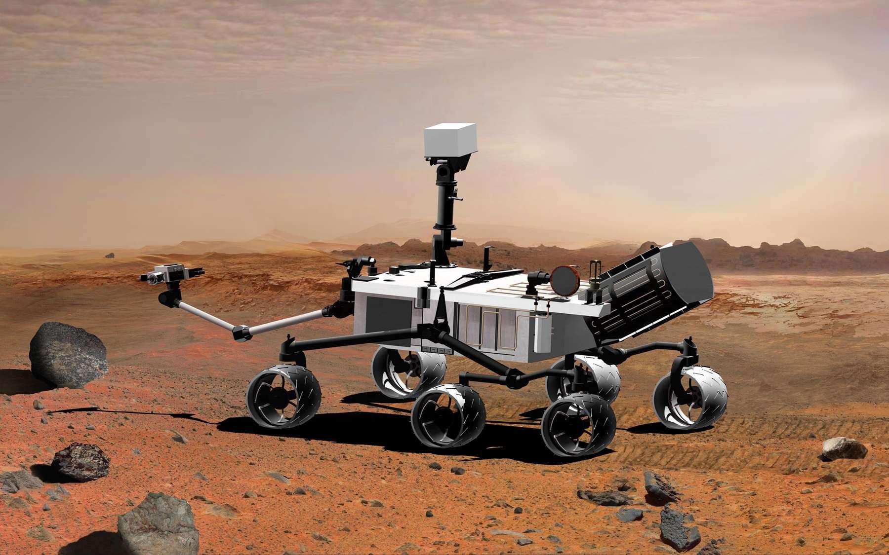 Avec Curiosity (ici à l'image) et ExoMars 2018, la Nasa et l'Esa ouvrent la voie à une nouvelle étape de l'exploration avec des missions plus longues pour l'américaine et plus audacieuses dans leur façon de travailler. Avec l'arrivée de nouvelles idées, la durée de vie et les capacités de franchissement sont deux contraintes qui vont s'estomper progressivement. © Nasa