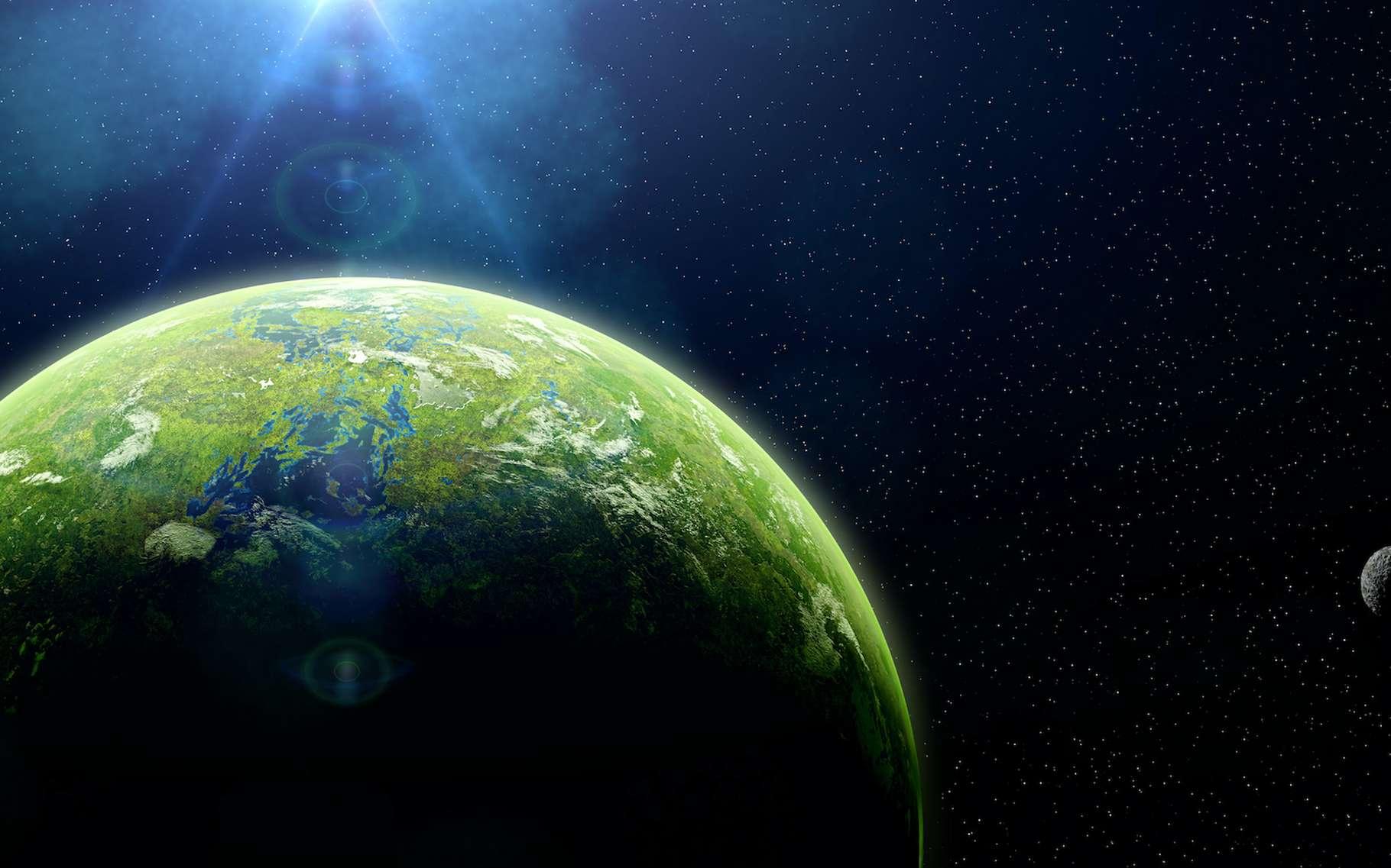 Selon des travaux de chercheurs de l'université de Californie à Santa Cruz (États-Unis), l'abondance en certains éléments radioactifs permettrait d'estimer l'habitalitié d'une planète © dottedyeti, Adobe Stock