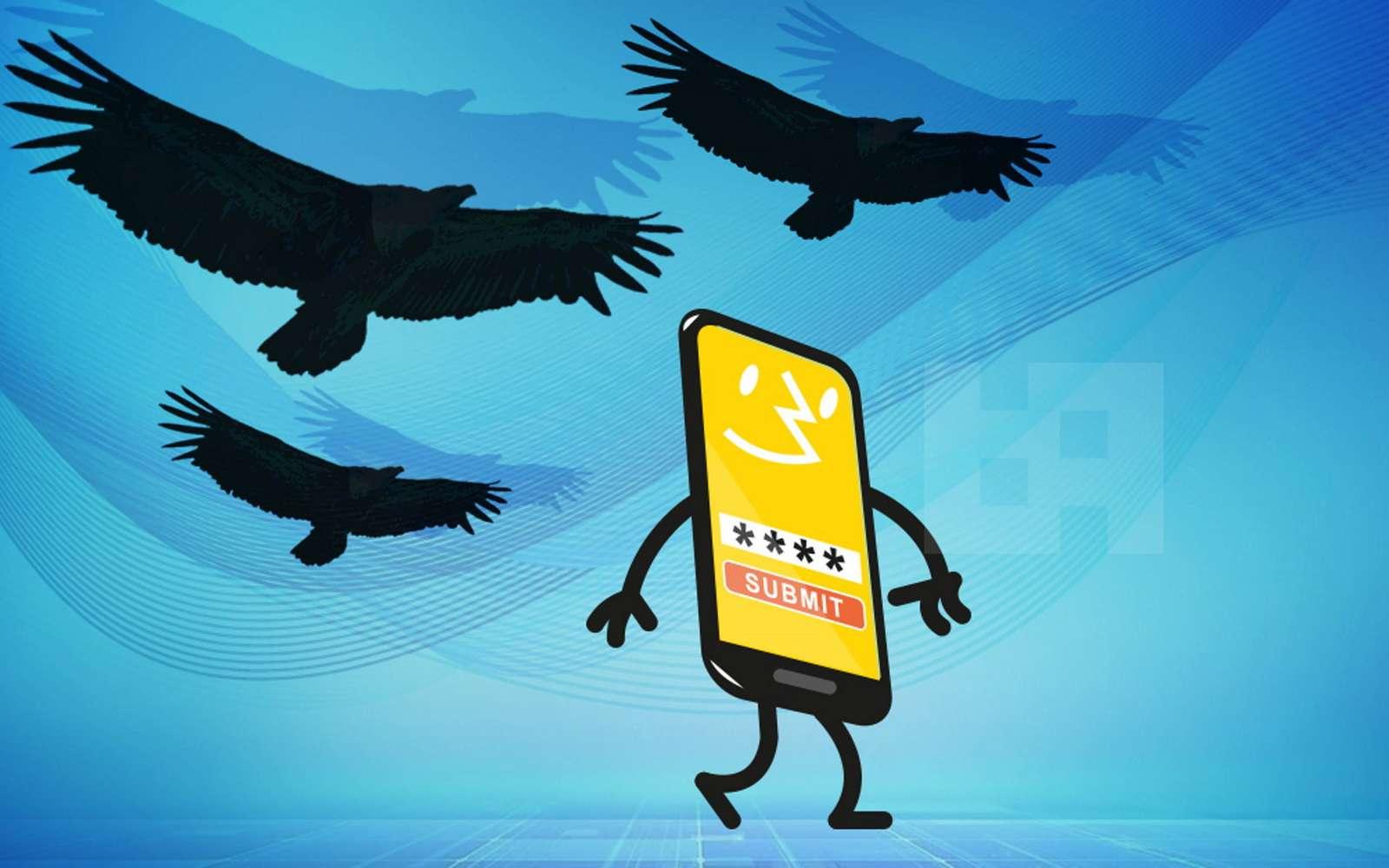 Vultur intègre un serveur VNC afin de diffuser l'écran du smartphone et voler les identifiants bancaires. © ThreatFabric
