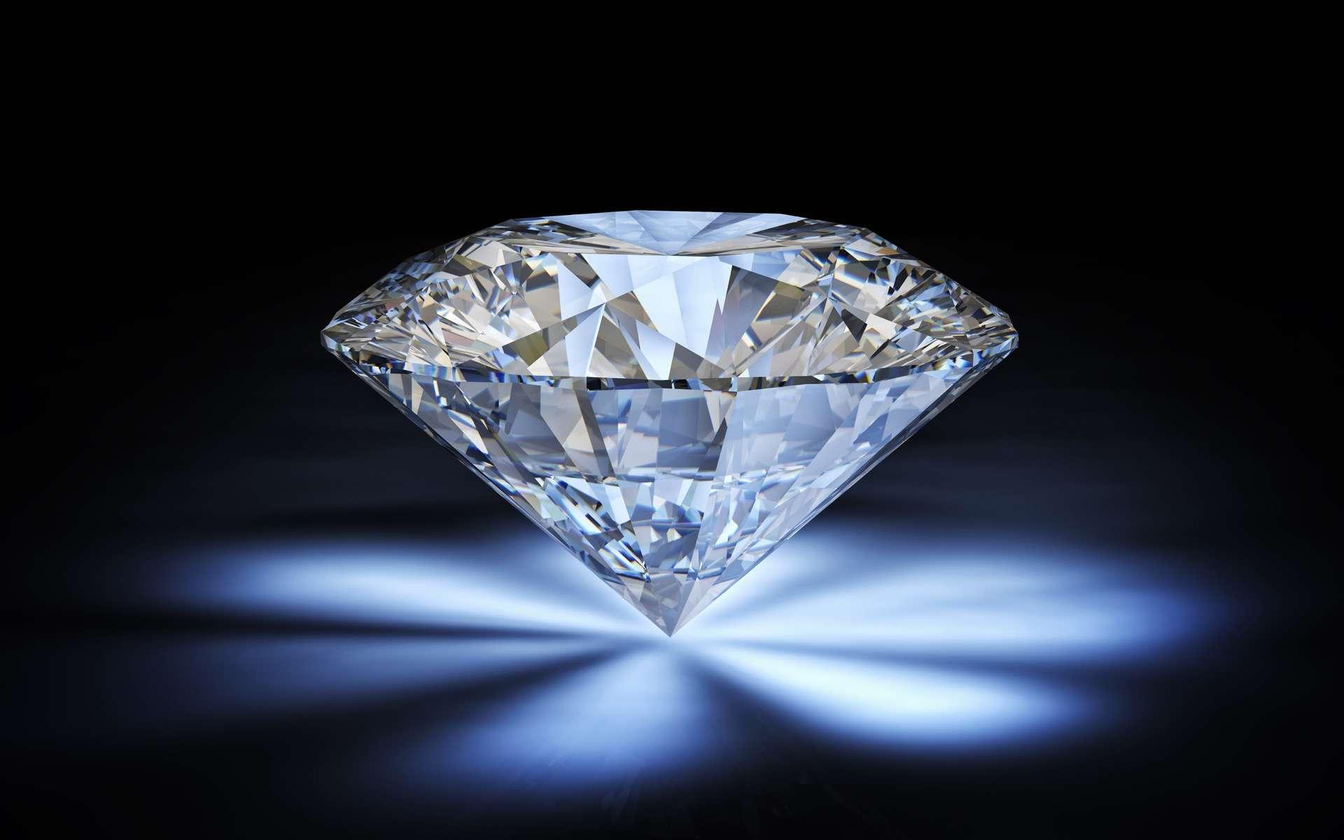 Vente aux enchères exceptionnelle d'un diamant de 100 carat payable en cryptomonnaie. © tiero, Adobe Stock