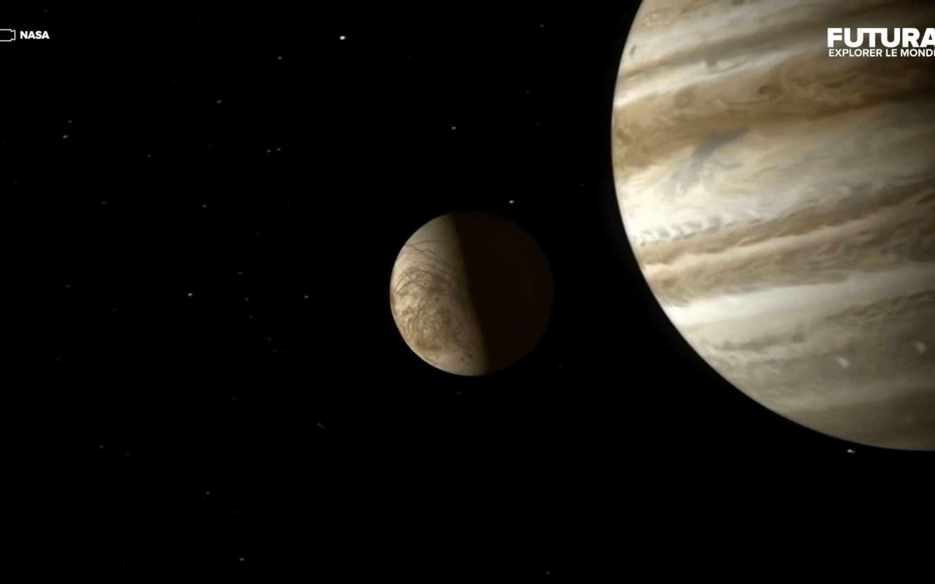 Europe orbite autour du Jupiter. © Nasa
