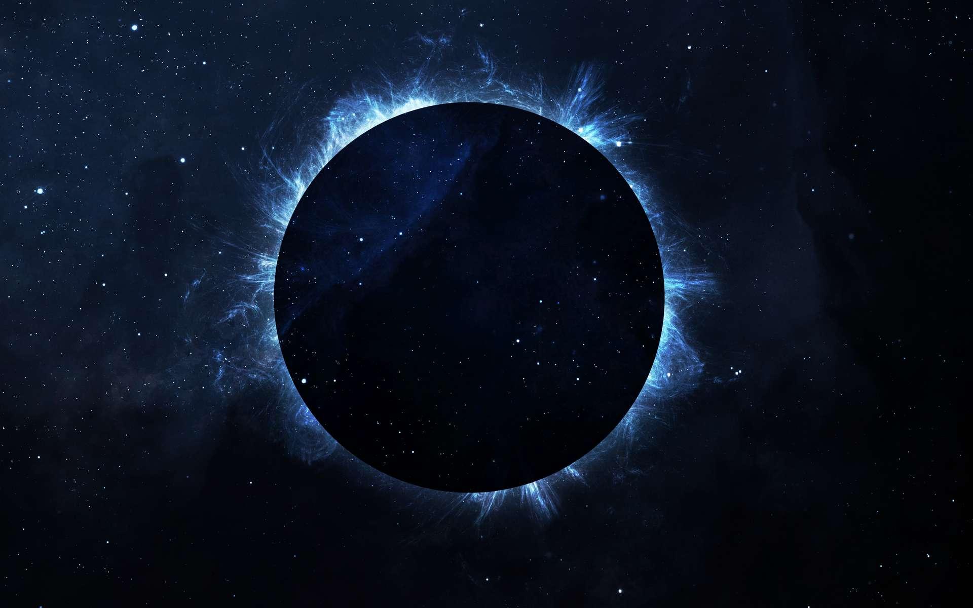 Vue de l'extérieur, la Terre est enveloppée d'un voile noir opaque. Le Spin. Elle est désormais isolée du reste de l'Univers. © Vadimsadowski, Adobe Stock