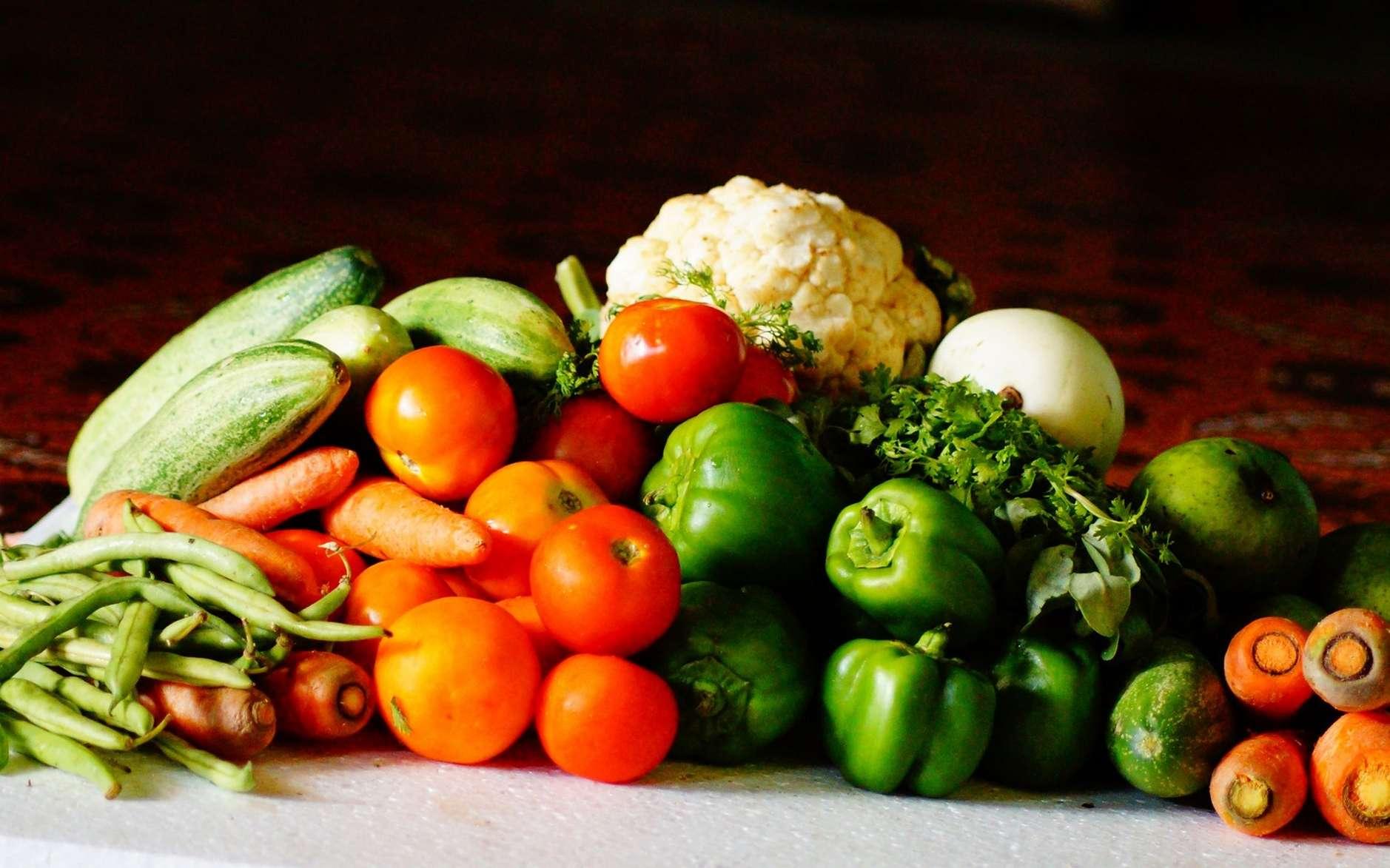 Les vitamines des légumes frais sont rapidement détruites à l'air libre. © PxHere