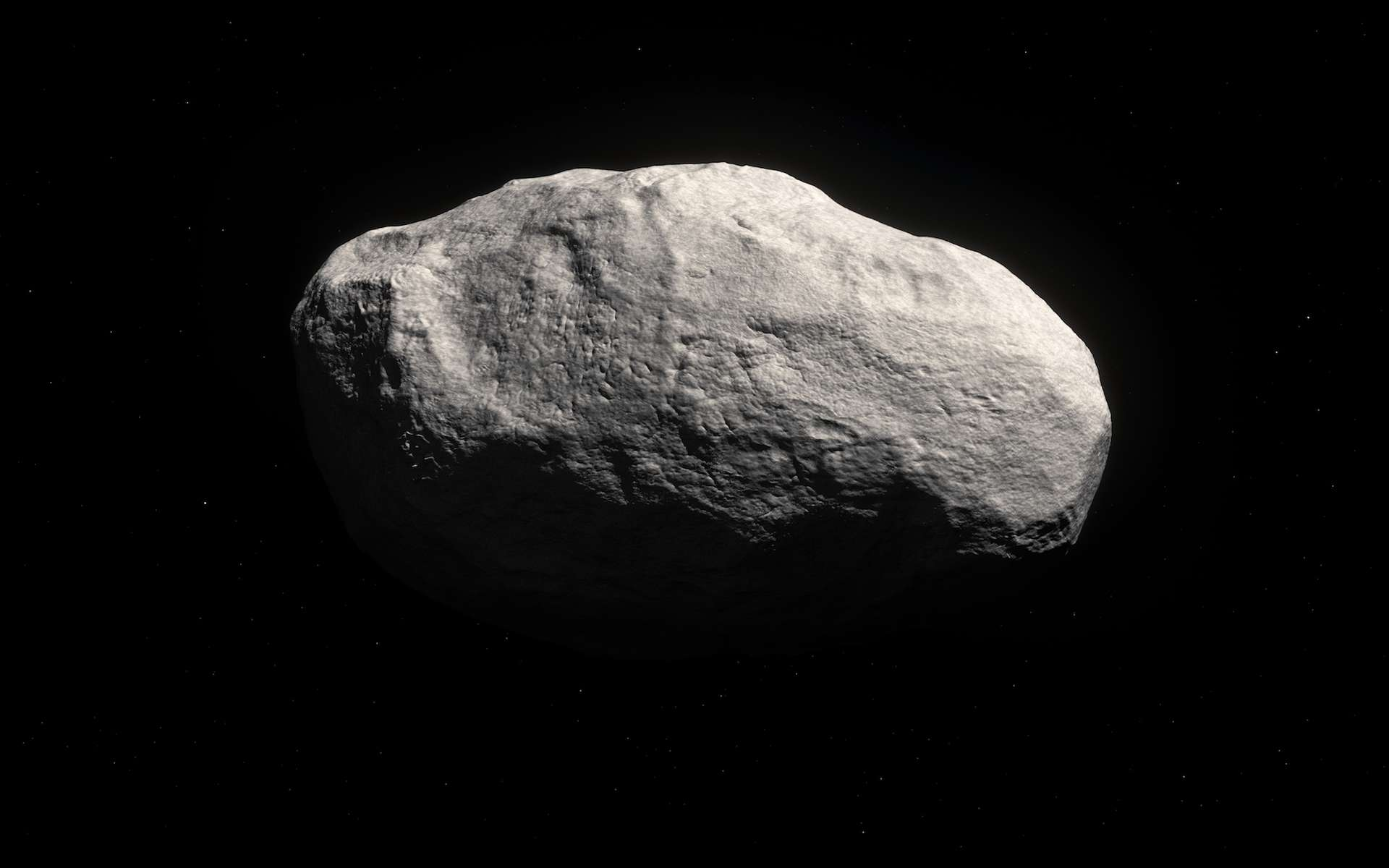 Illustration de C/2014 S3 (Pan-Starrs), un corps qui, de par son orbite, peut être confondu avec une comète à longue période (en l'occurrence environ 830 ans) mais qui présente les caractéristiques d'un astéroïde primitif. Exilé il y a plusieurs milliards d'années dans les régions glacées, il a subi peu d'altérations du Soleil et de collisions avec d'autres objets, au contraire de ceux qui sont parqués dans la ceinture principale d'astéroïdes. © Eso, M. Kornmesser