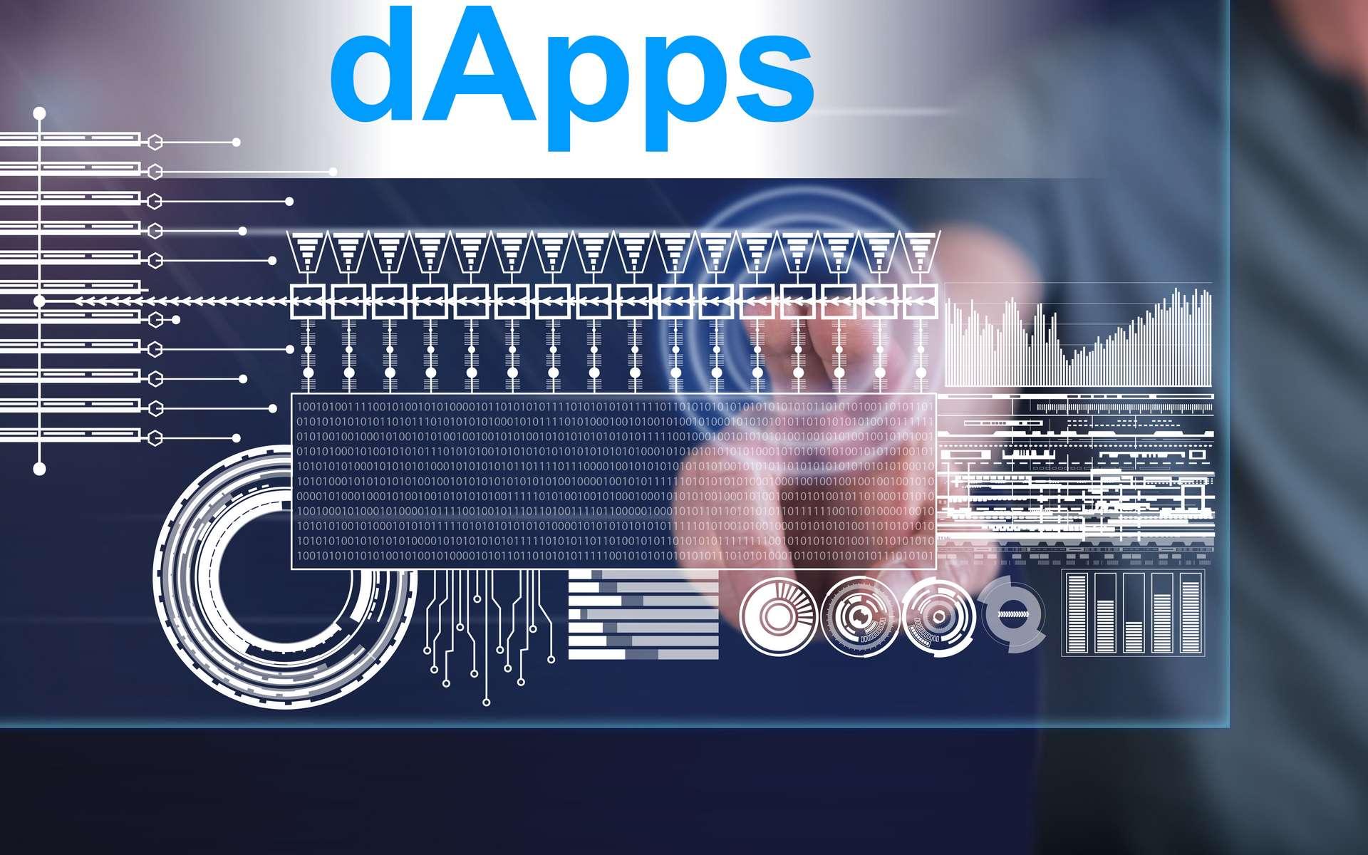 Les applications décentralisées sont aussi appelées DApps. © Thodonal, Adobe Stock