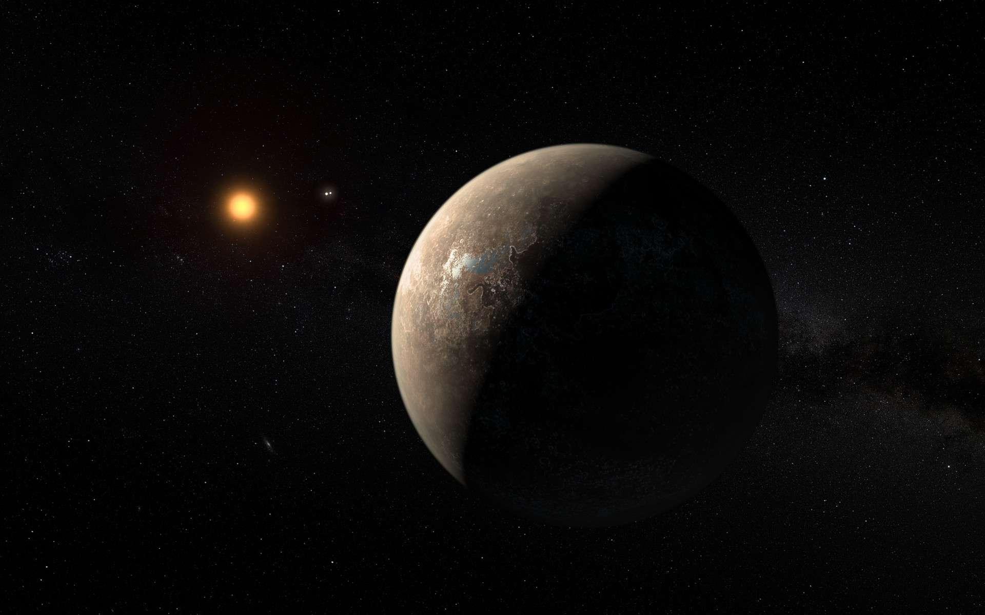 Illustration de Proxima b. © ESO, M. Kornmesser