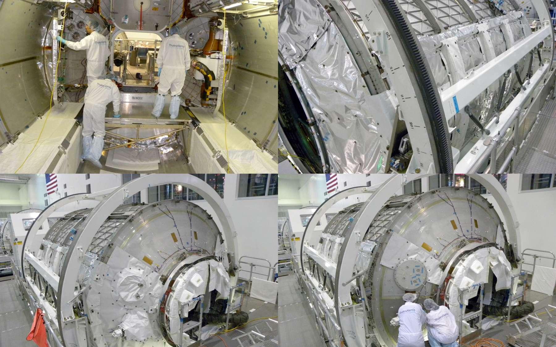 Le module permanent PMM (anciennement MPLM Leonardo) vient d'être livré à la Nasa. Transformé par Thales Alenia Space, il doit rejoindre la Station en novembre à bord de la navette Discovery. Il sera amarré au port Nadir du nœud de jonction numéro 1 (Unity). Crédit Nasa / Thales Alenia Space