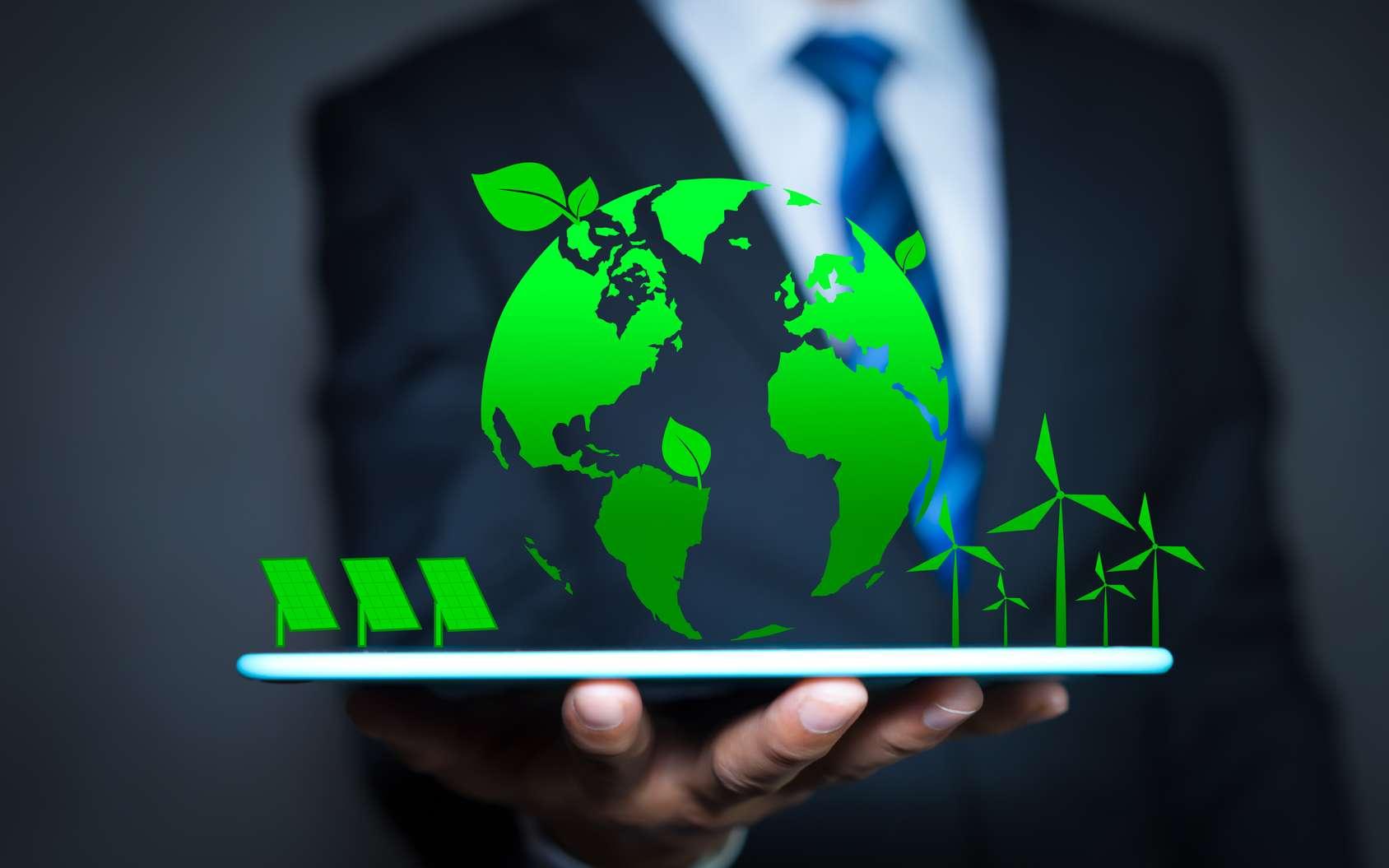 Les nouvelles technologies sont aujourd'hui au service de l'écoresponsabilité des entreprises. © Worawut, Fotolia