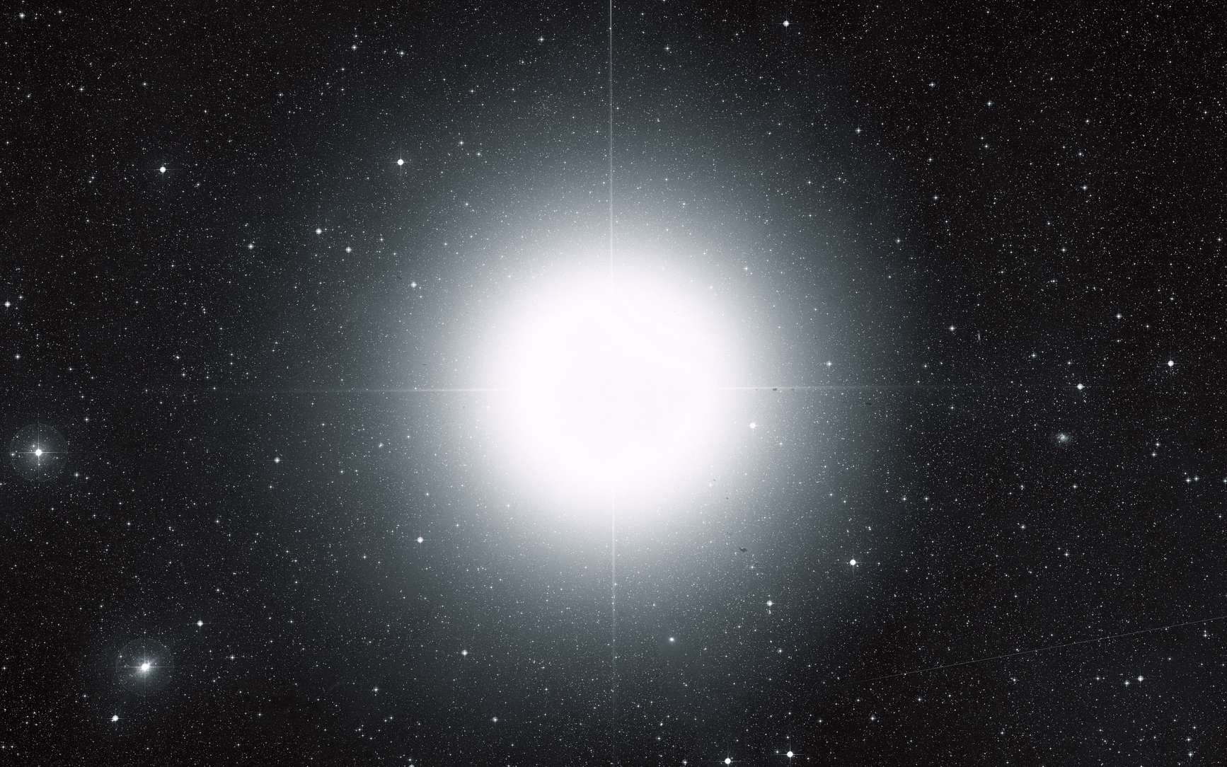 Sirius, l'étoile la plus brillante du ciel terrestre. © ESA, Hubble, Digitized Sky Survey 2, Davide De Martin
