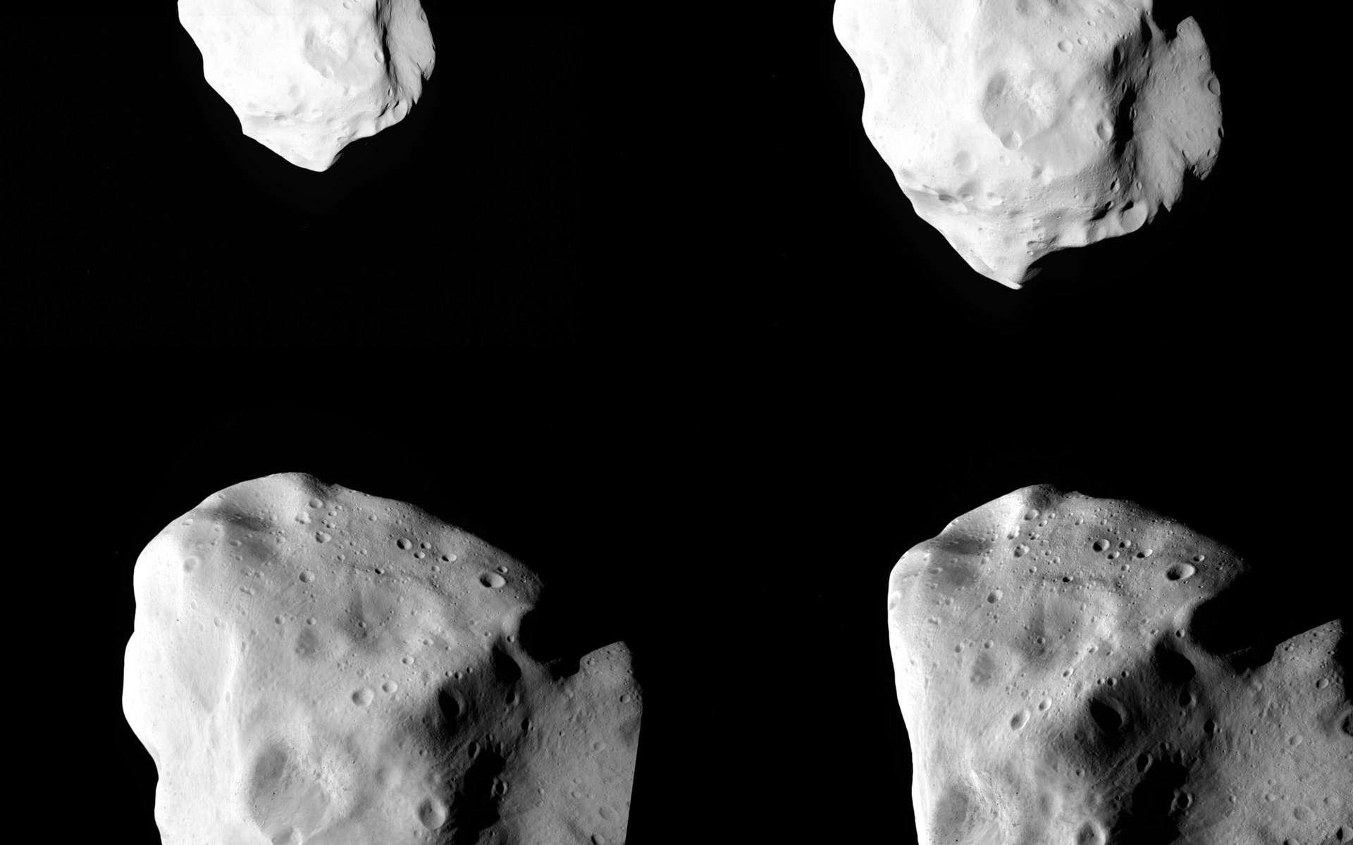 Sous son épaisse couche de régolithe de plusieurs centaines de mètres, Lutetia pourrait bien abriter les conditions qui ont prévalu au moment de la formation des planètes il y a plus de 4 milliards d'années. © Esa 2010 / MPS for OSIRIS Team MPS/UPD/LAM/IAA/RSSD/INTA/UPM/DASP/IDA