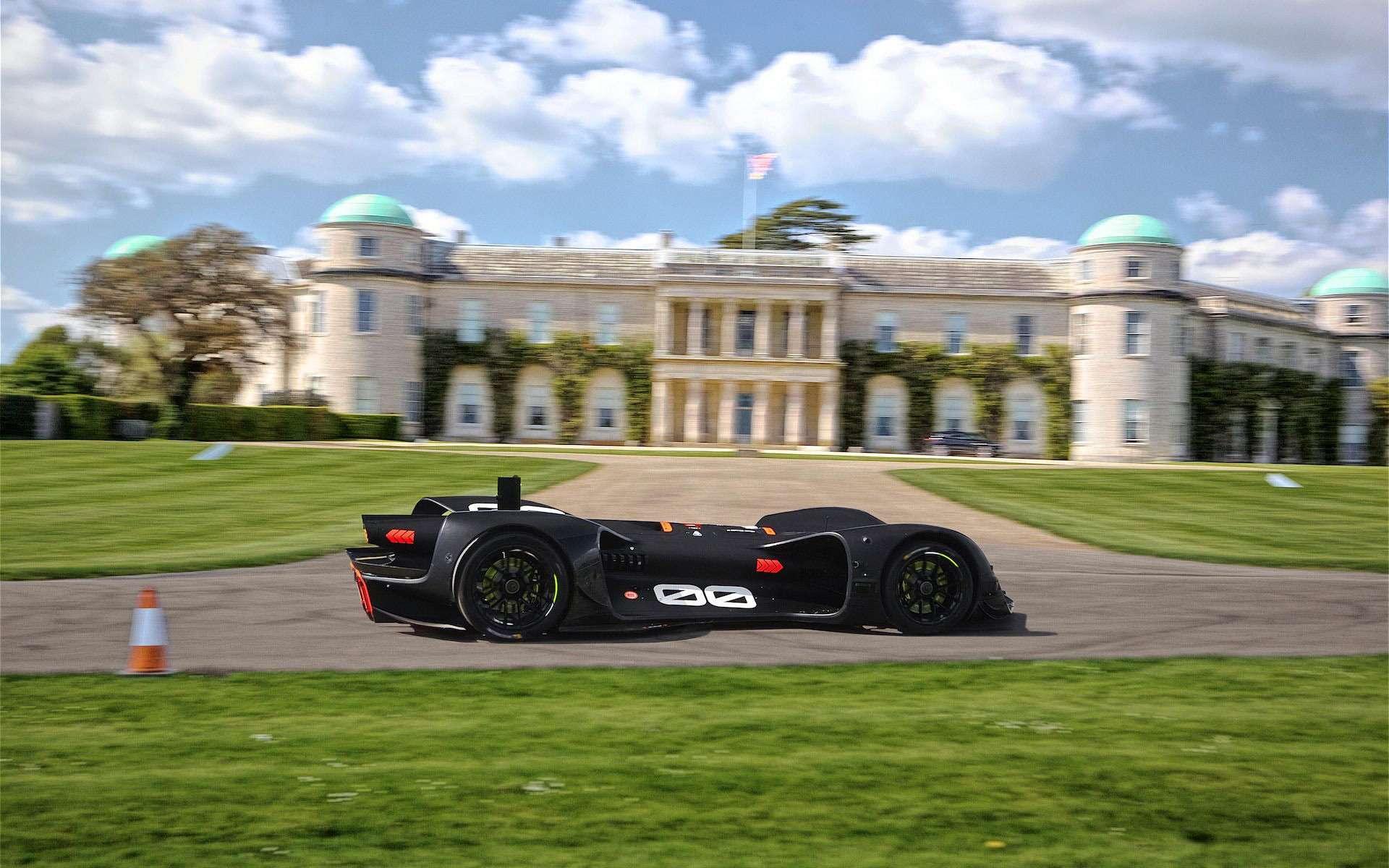La version finale de la voiture de course autonome Roborace. © Roborace