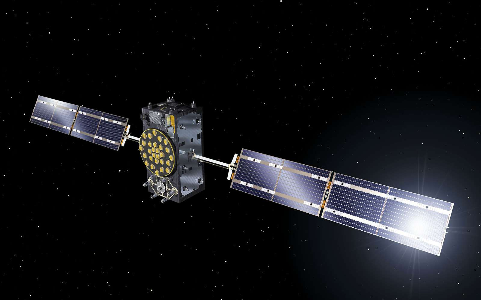 Les deux satellites Galileo lancés sur une mauvaise orbite ont été construits par la firme allemande OHB. Ils embarquent une charge utile fournie par SSTL (Surrey Satelitte Technology Ltd, UK), filiale d'Airbus Espace. © Esa, J. Huart