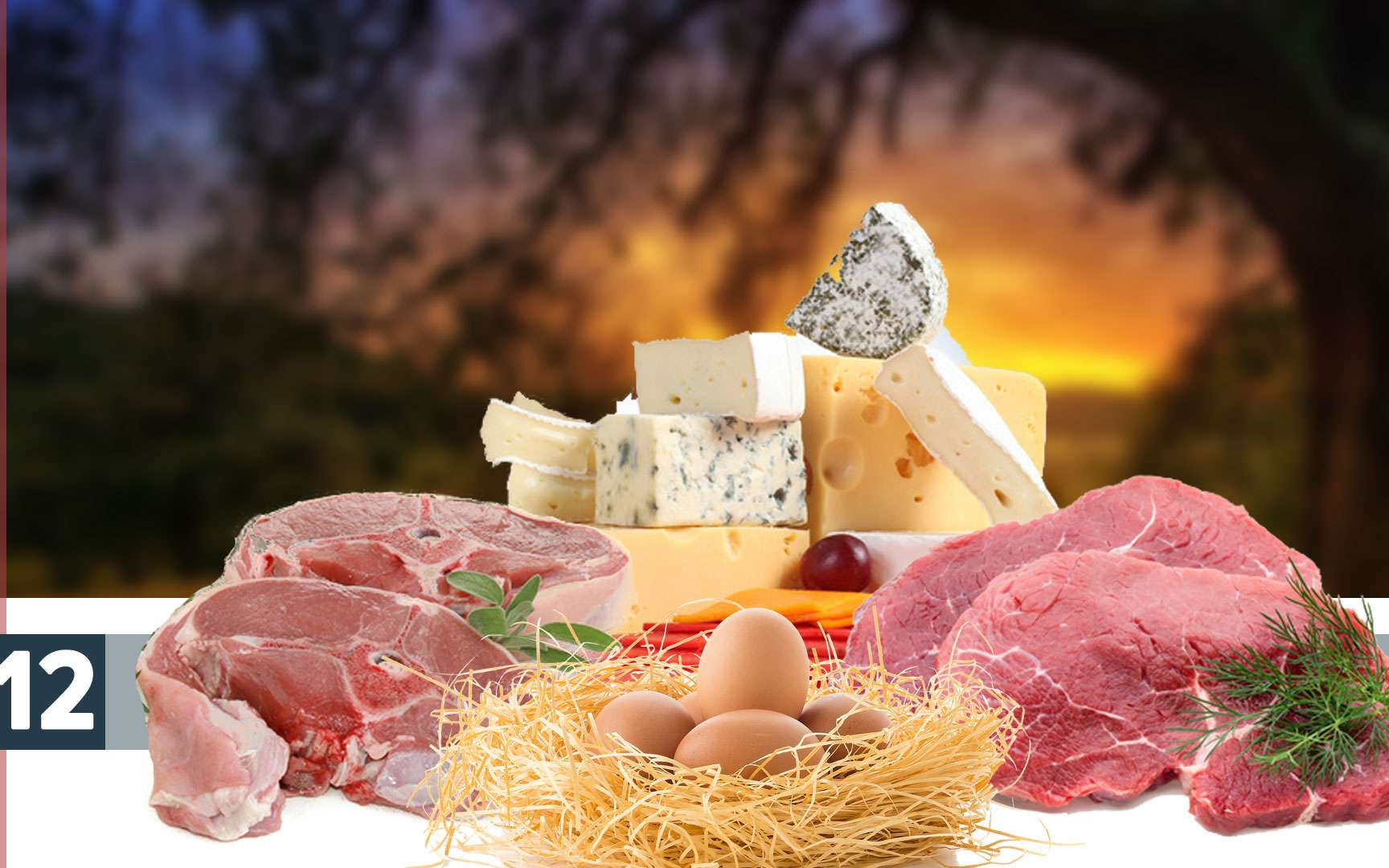 Oeufs, fromages sont une bonne source de vitamine B12. © Fotolia