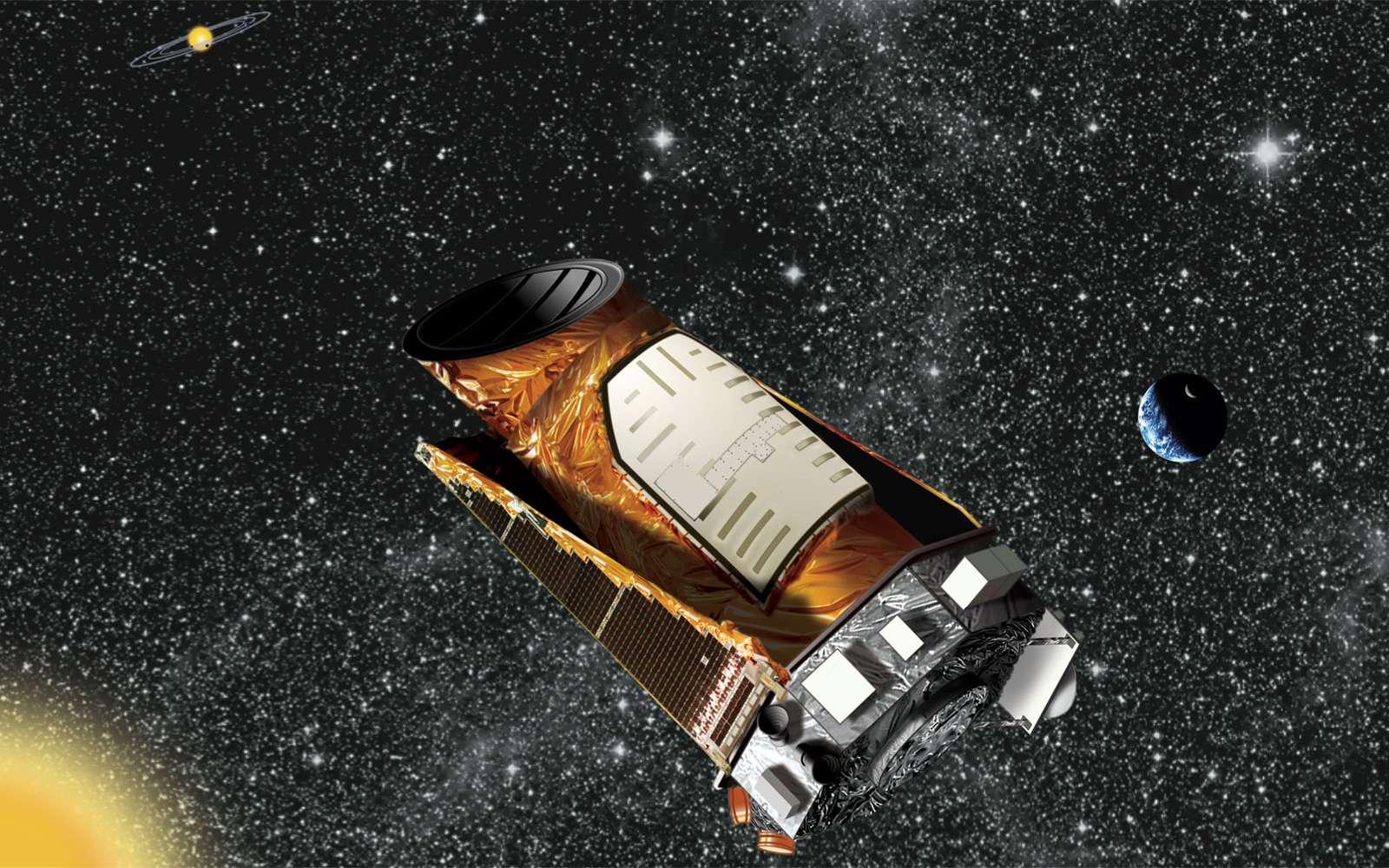 Kepler, de nouveau capable de pointer des étoiles pendant une longue période, s'est vu attribuer une nouvelle mission de recherche d'exoplanètes. Baptisée K2, elle s'étendra jusqu'à juin 2016. © Nasa