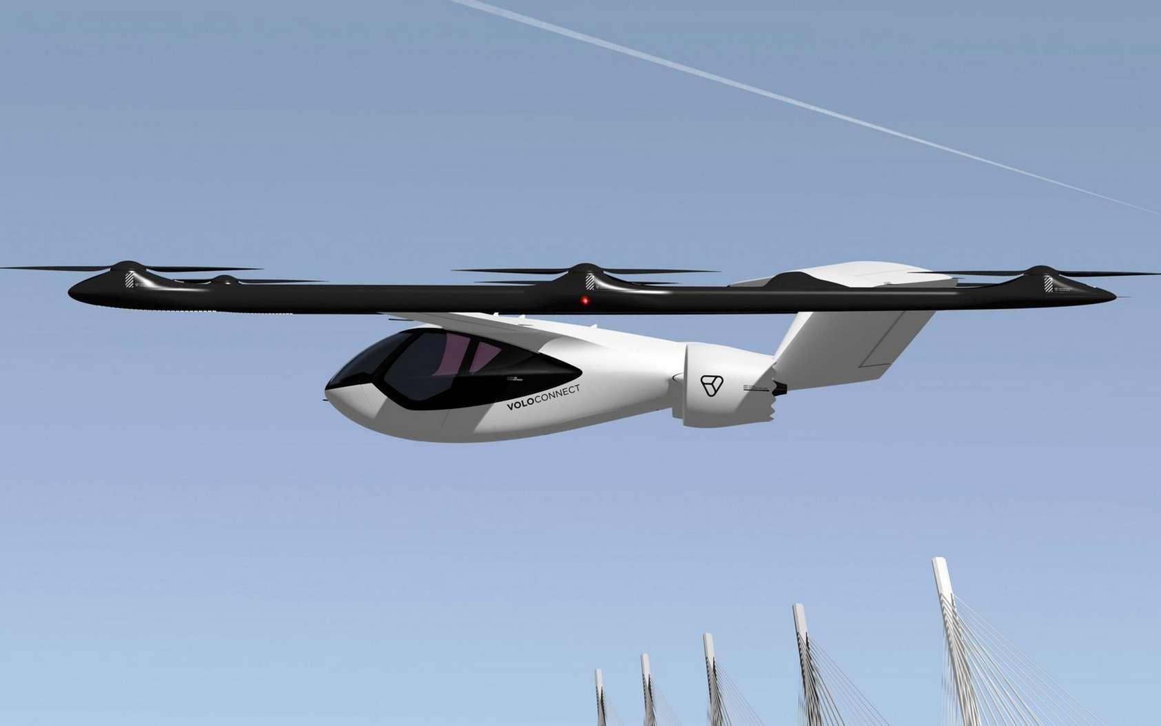 Le nouveau taxi volant VoloConnect de Volocopter. © Volocopter