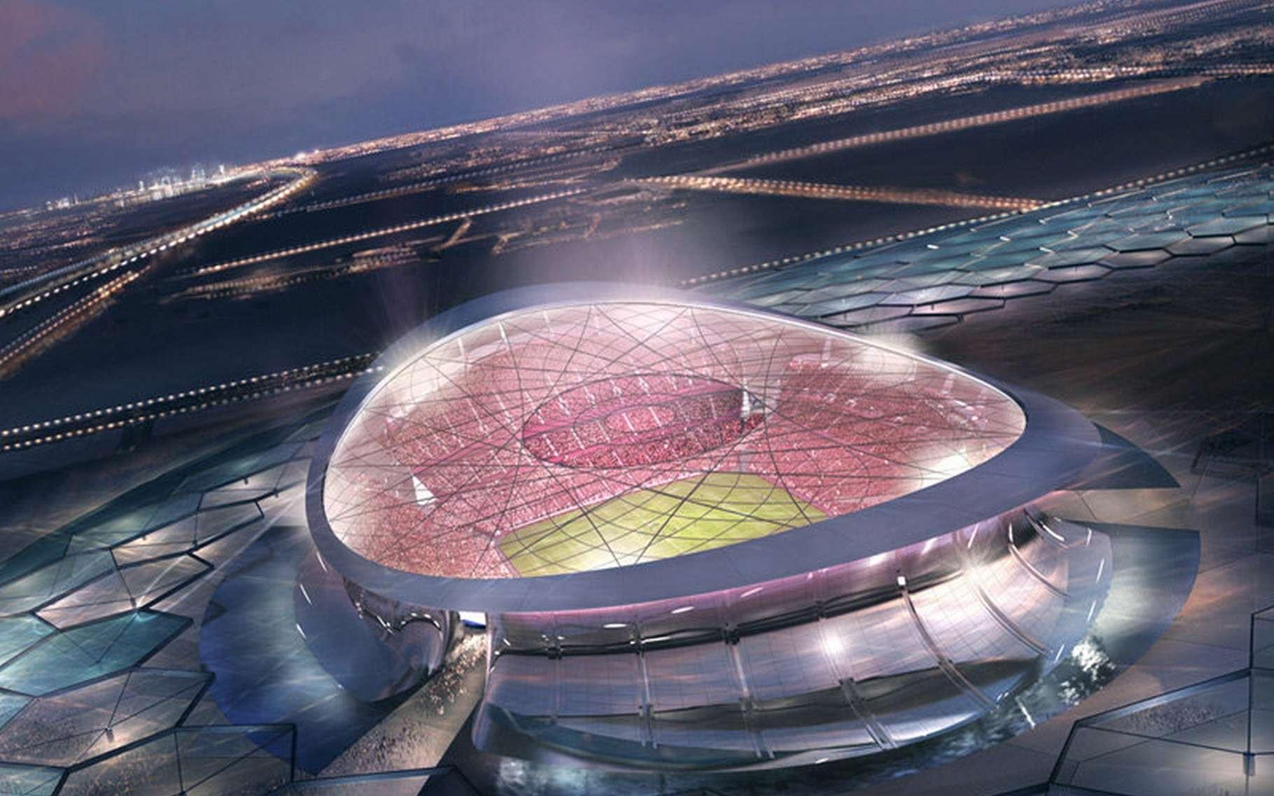 Le Lusail Iconic Stadium est le stade qui accueillera la cérémonie d'ouverture ainsi que la finale de la Coupe du monde 2022 au Qatar. Sa construction coûtera à elle seule 38 milliards de dollars (environ 34 milliards d'euros au cours actuel). © Supreme Committee for Delivery & Legacy Technical Delivery Office, Fifa