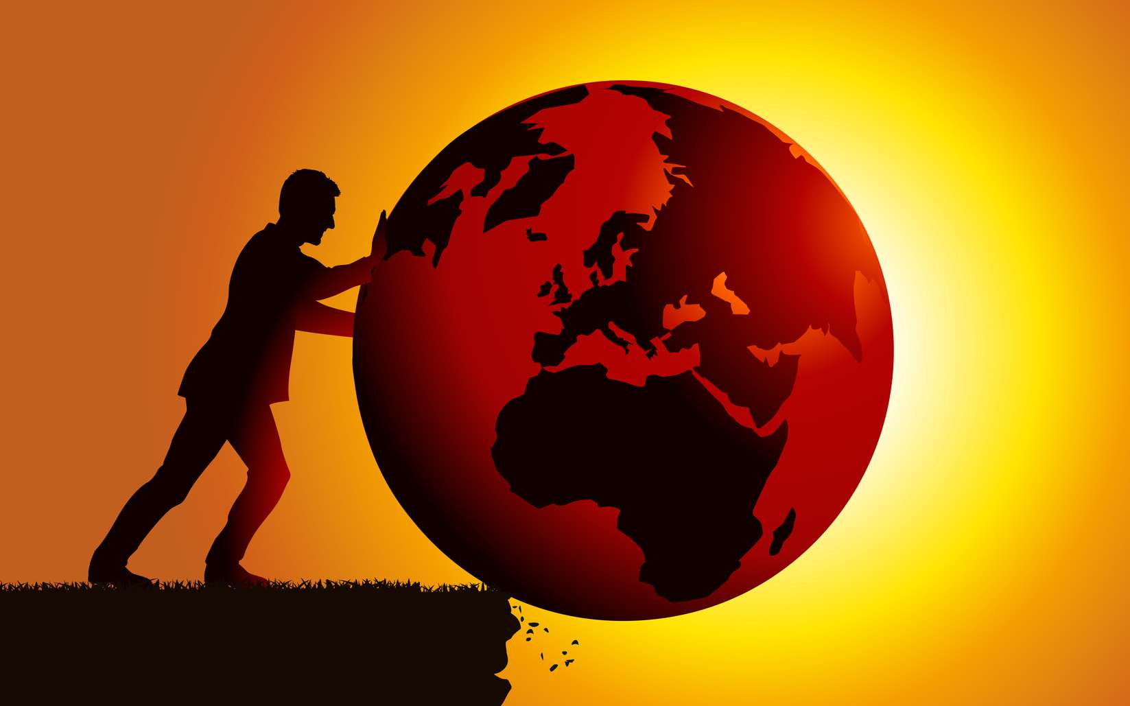 L'humanité est-elle sur le point de pousser le climat de la Terre dans un précipice avec le réchauffement climatique ? © pict rider, Fotolia