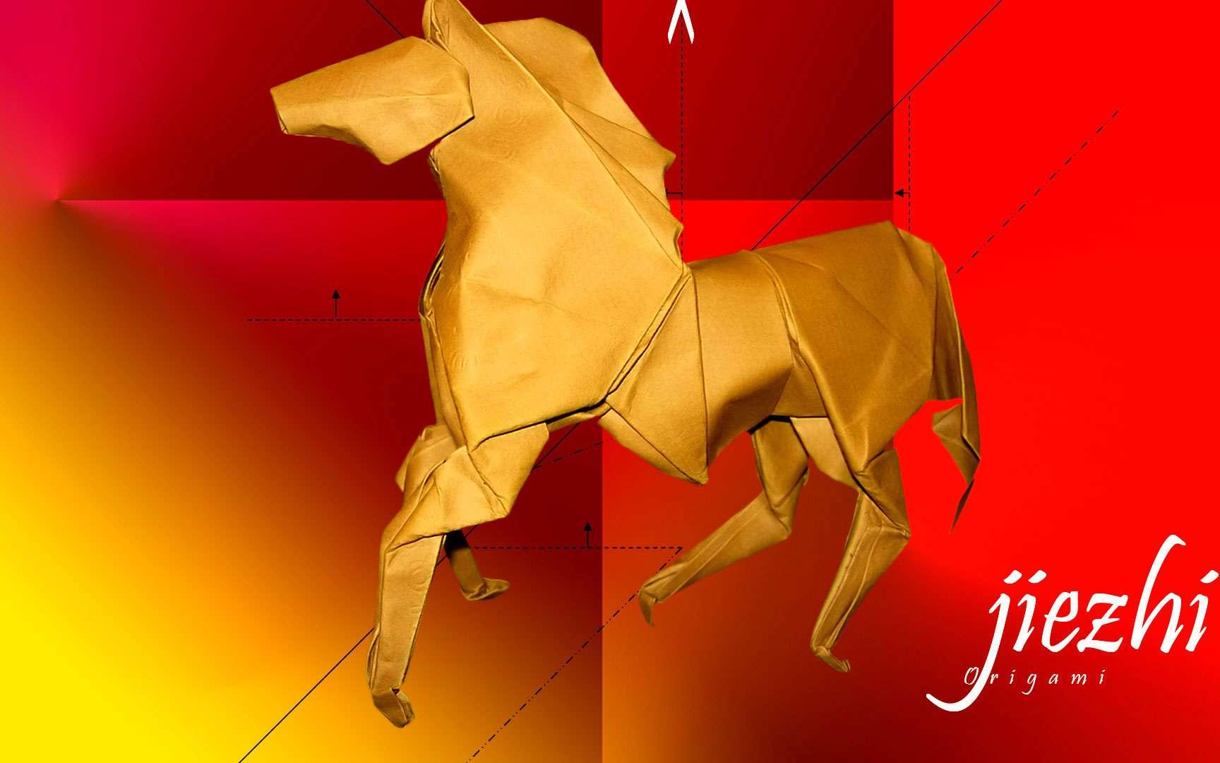Un cheval en papier, un des signes du zodiaque chinois. © Futura