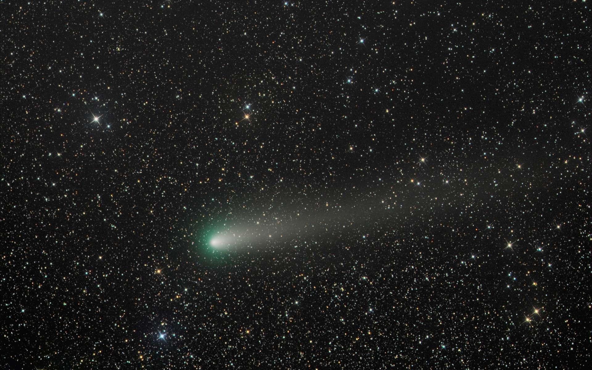 La comète 21P/Giacobini-Zinner observée en septembre 2018 alors située à 151 millions de kilomètres du Soleil et juste à 58,6 millions de kilomètres de la Terre. © Greg Ruppel