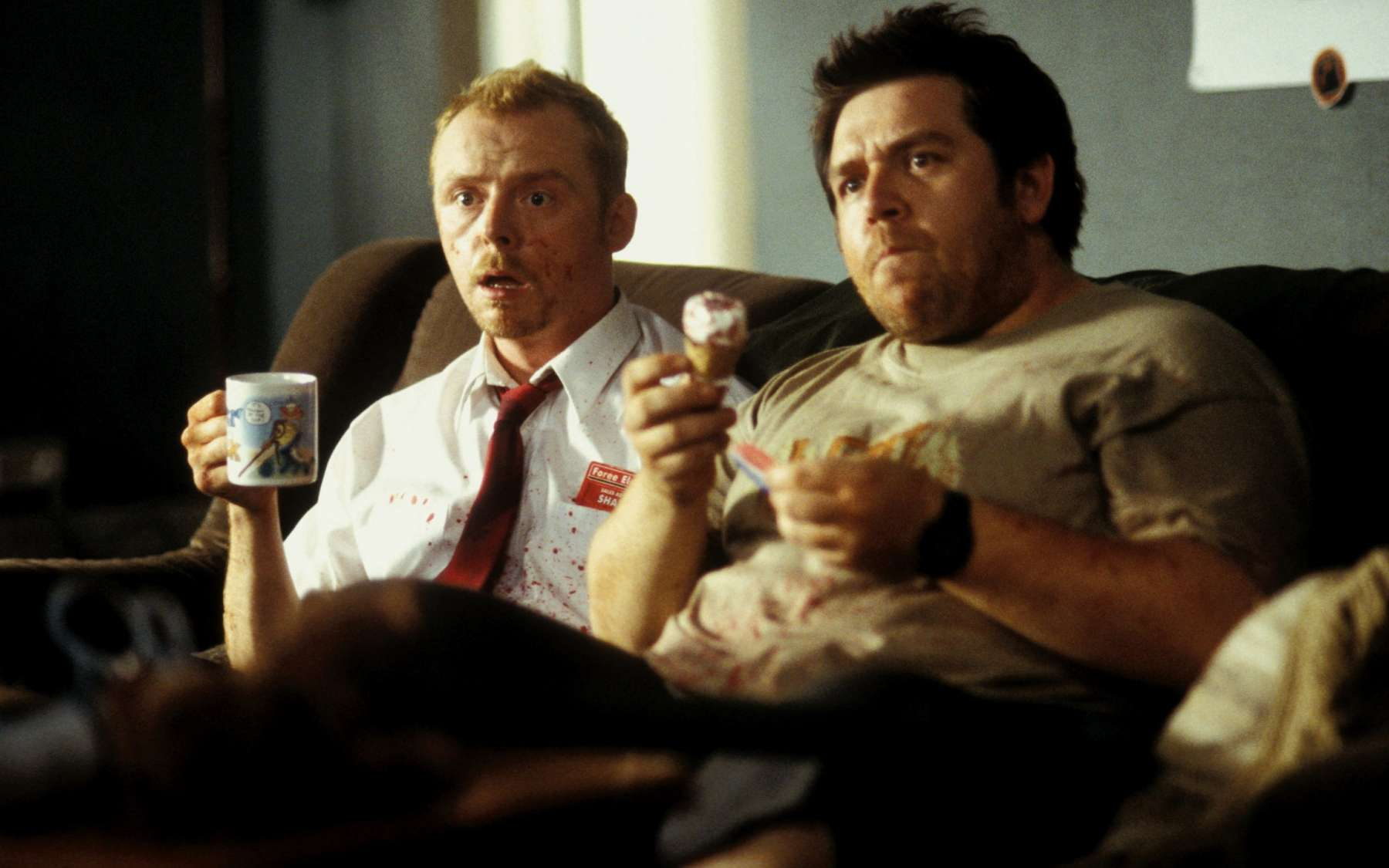 Simon Pegg et Nick Frost dans Shaun of the Dead de Edgar Wright. © StudioCanal, Universal Pictures