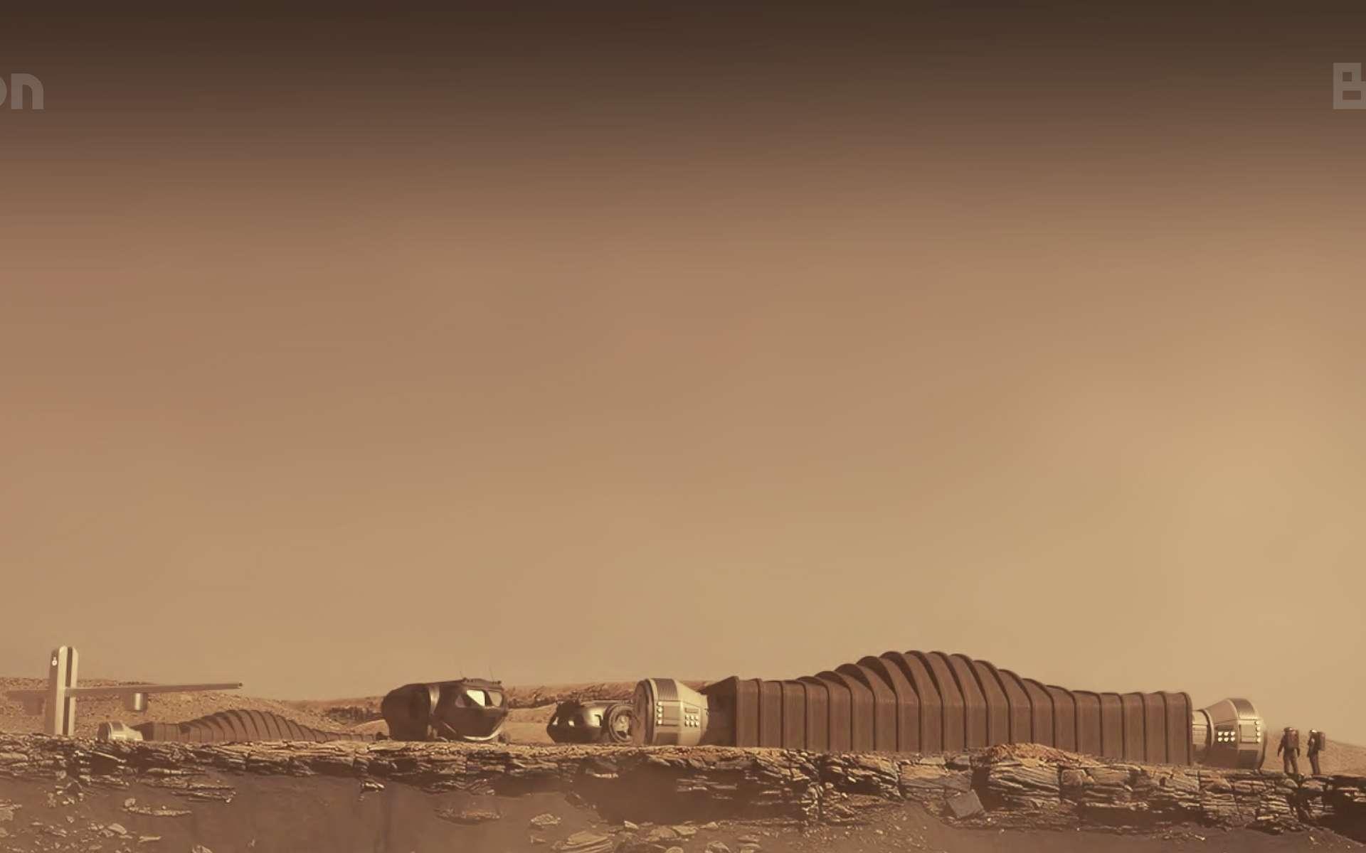 Rendu conceptuel de la base Mars Dune Alpha. © Icon