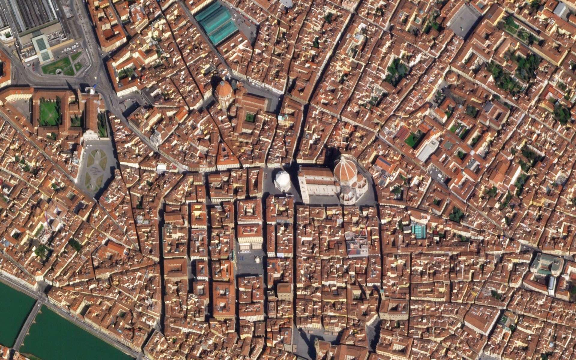 La ville de Florence, en Italie, à l'heure du confinement. © 2020 Planet Labs, Inc.