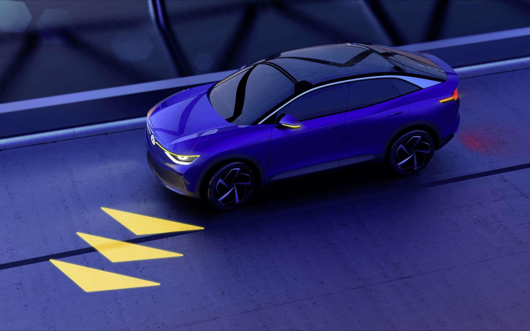 L'un des exemples d'éclairage communicant sur lequel travaille Volkswagen. © Volkswagen