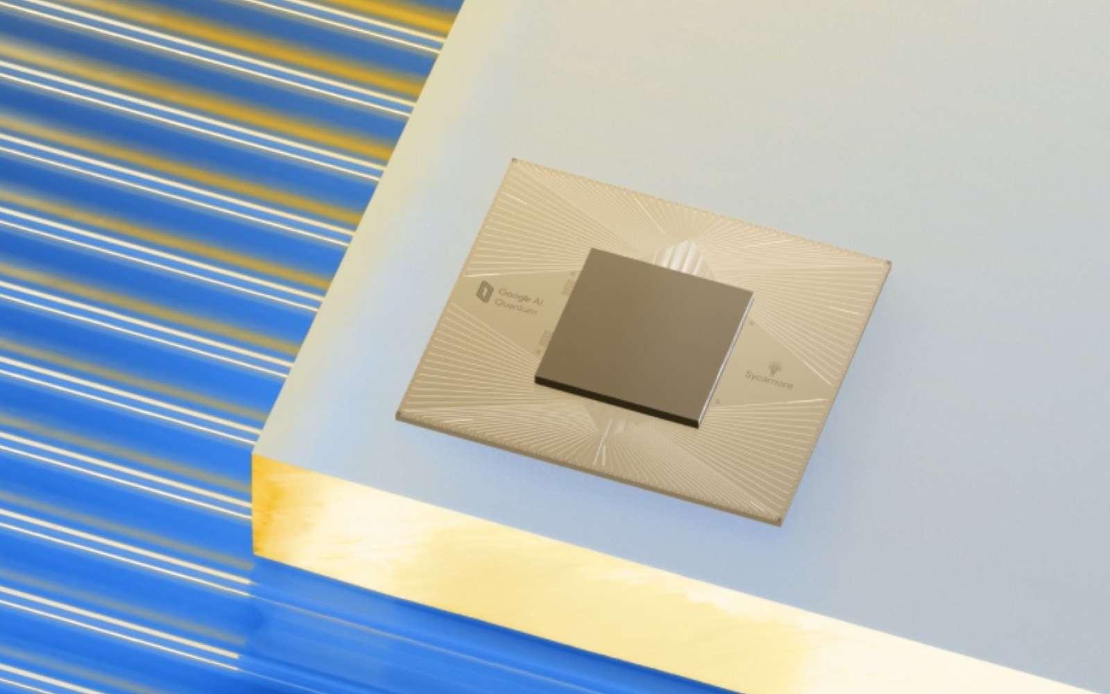 La puce quantique de Google est dotée de 54 qubits. C'est à partir de ce genre de puce que la firme souhaite constituer un ordinateur quantique d'1.000.000 de qubits. © Google