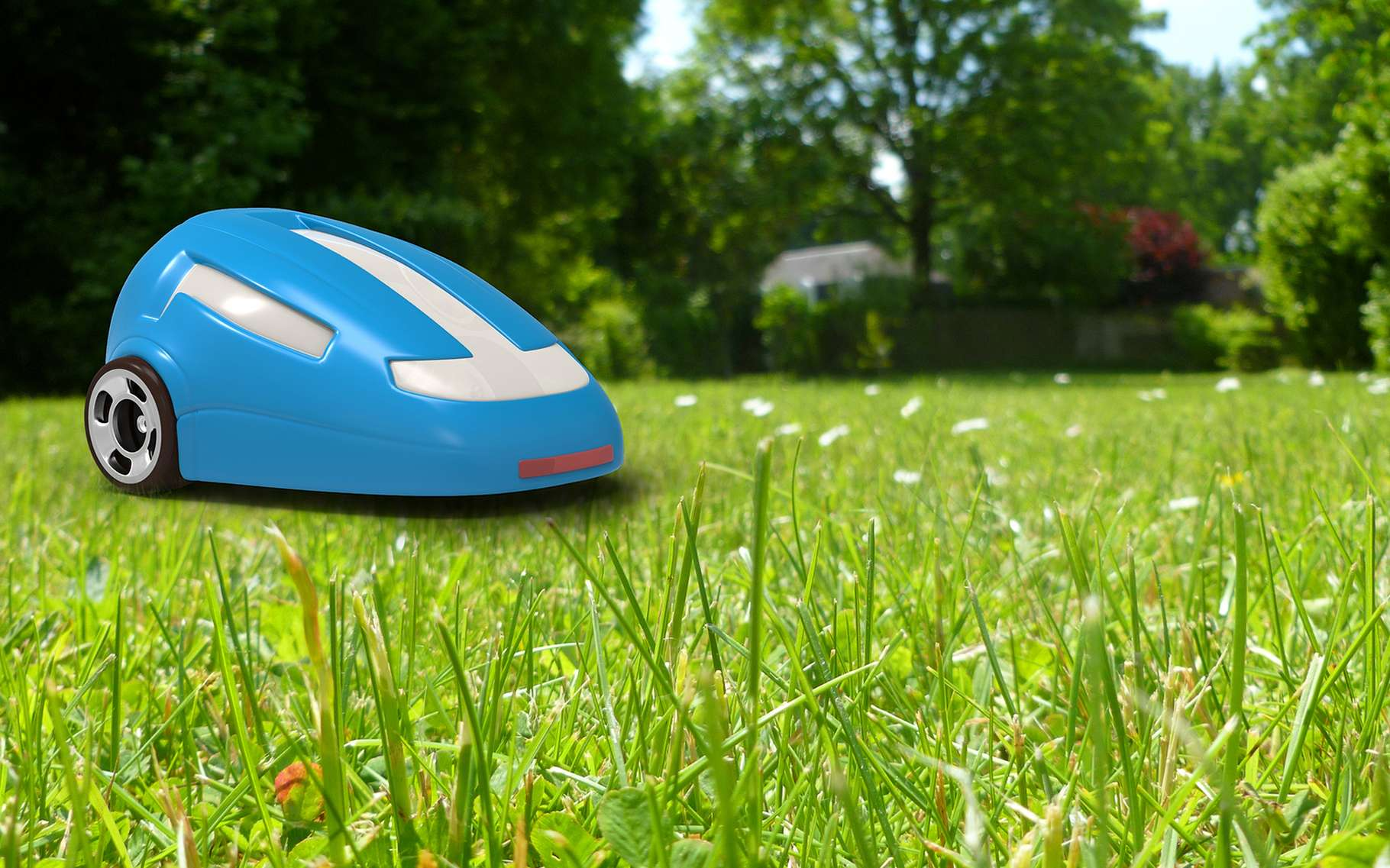 Lassé de tondre la pelouse toute l'année ? Le robot tondeuse est désormais suffisamment efficace et abordable pour représenter une véritable alternative. © Julien Tromeur, Shutterstock