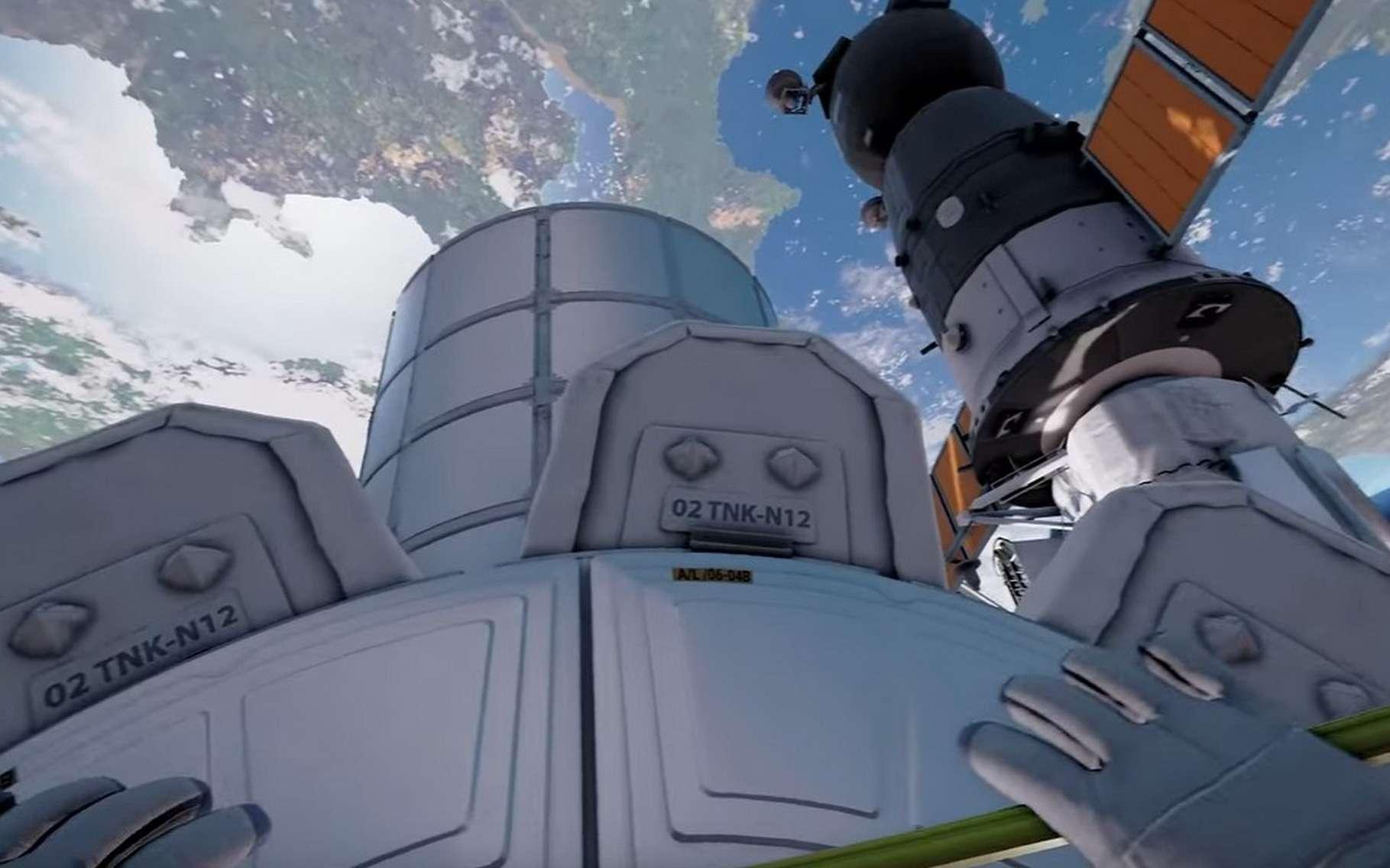 La réalité virtuelle offre une opportunité unique de vivre au plus près l'aventure spatiale. © Rewind