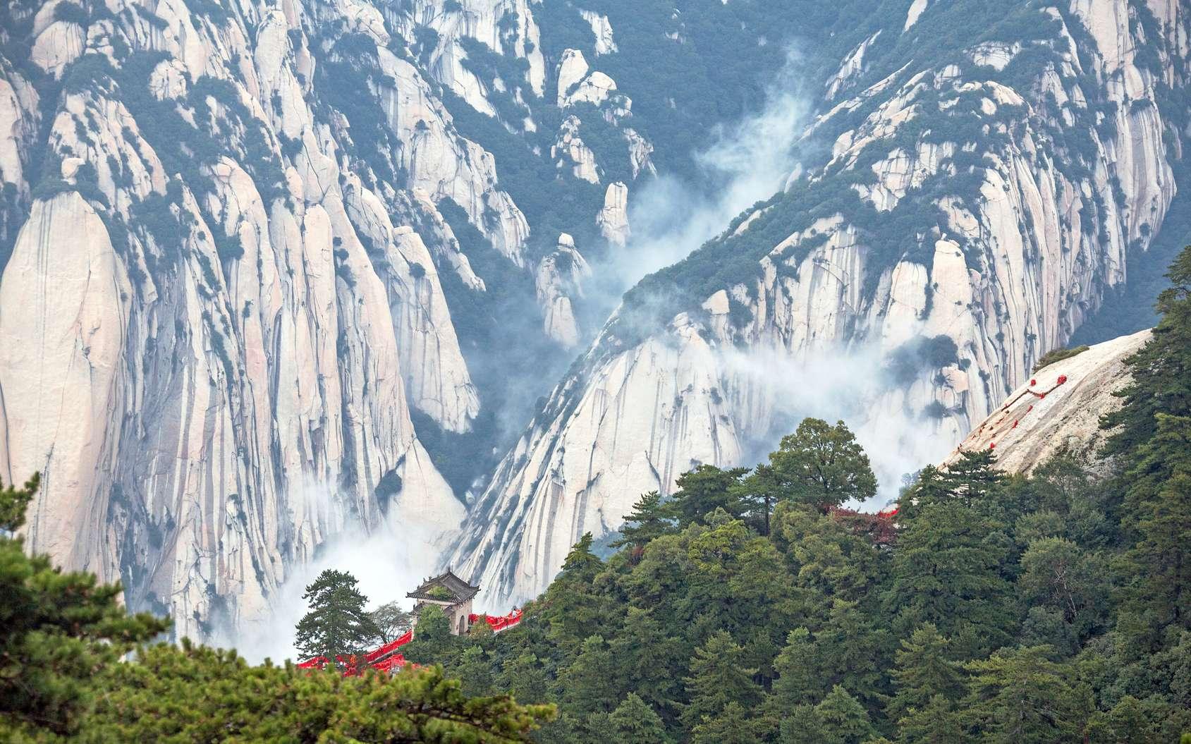 La plus ancienne cité impériale de Chine a été découverte. Ici, paysage dans la chaîne de montagnes du mont Hua, dans la province du Shanxi. © kiwisoul, Fotolia