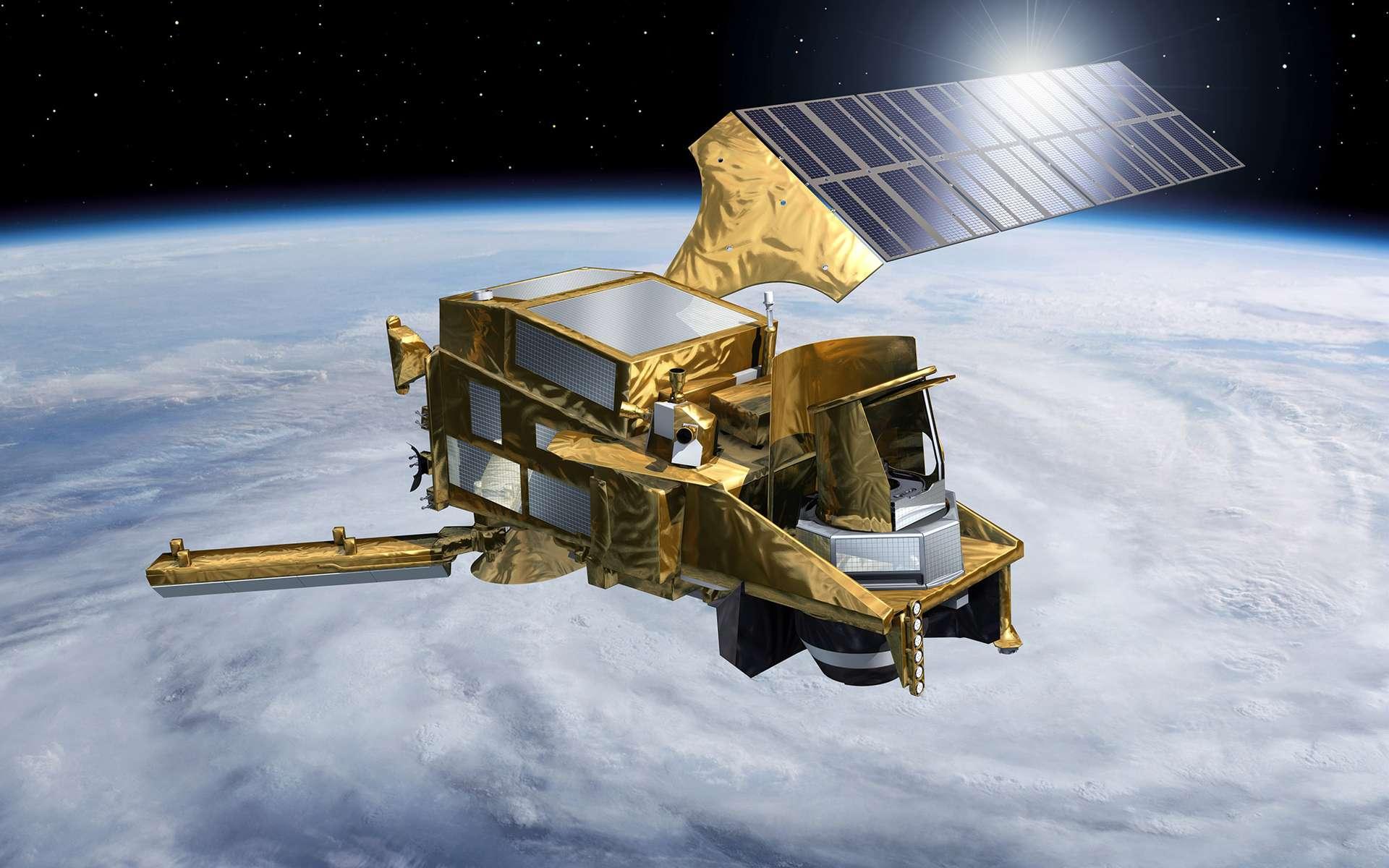 Vue d'artiste d'un satellite Metop de seconde génération. © Esa, P. Carril