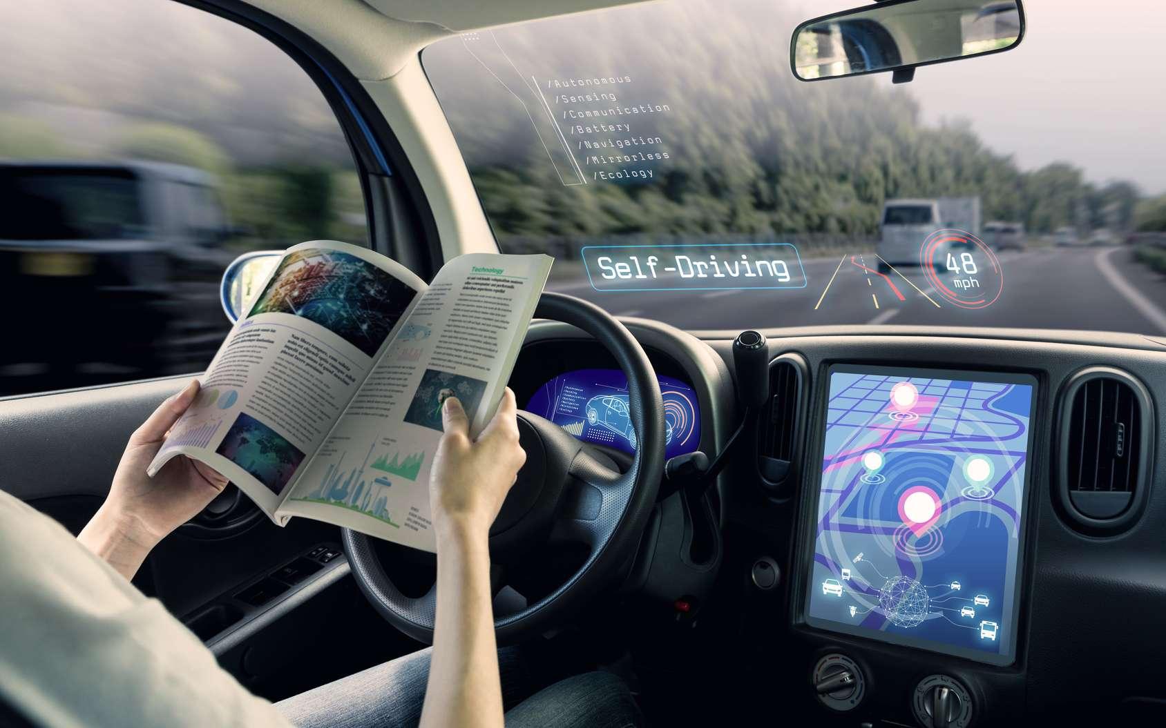 Les premières voitures autonomes sont annoncées à l'horizon 2020-2021. Elles pourraient bouleverser l'immobilier. © Chombosan, Fotolia