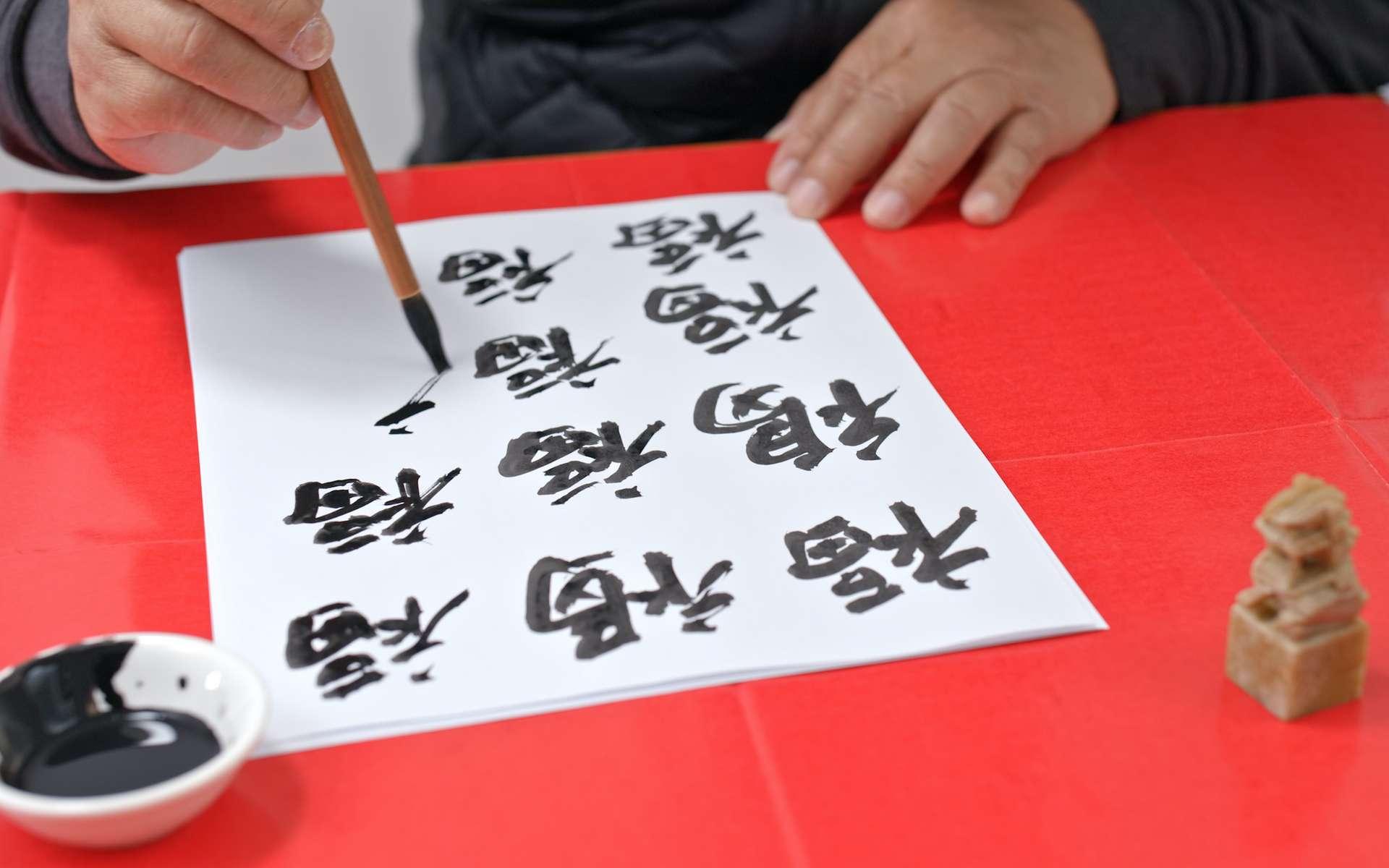 La calligraphie est l'art de dessiner les lettres. © leungchopan, Adobe Stock
