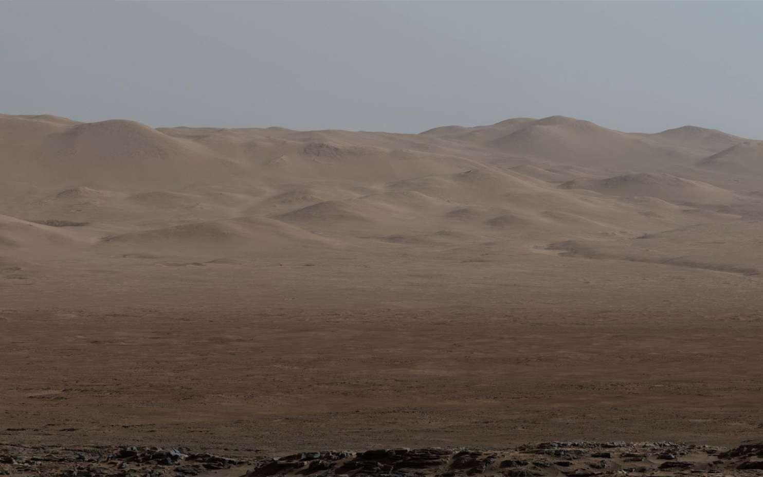 Mars, ses paysages et son atmosphère photographiés par le rover de la Nasa Curiosity. © Nas/JPL-Caltech/MSSS