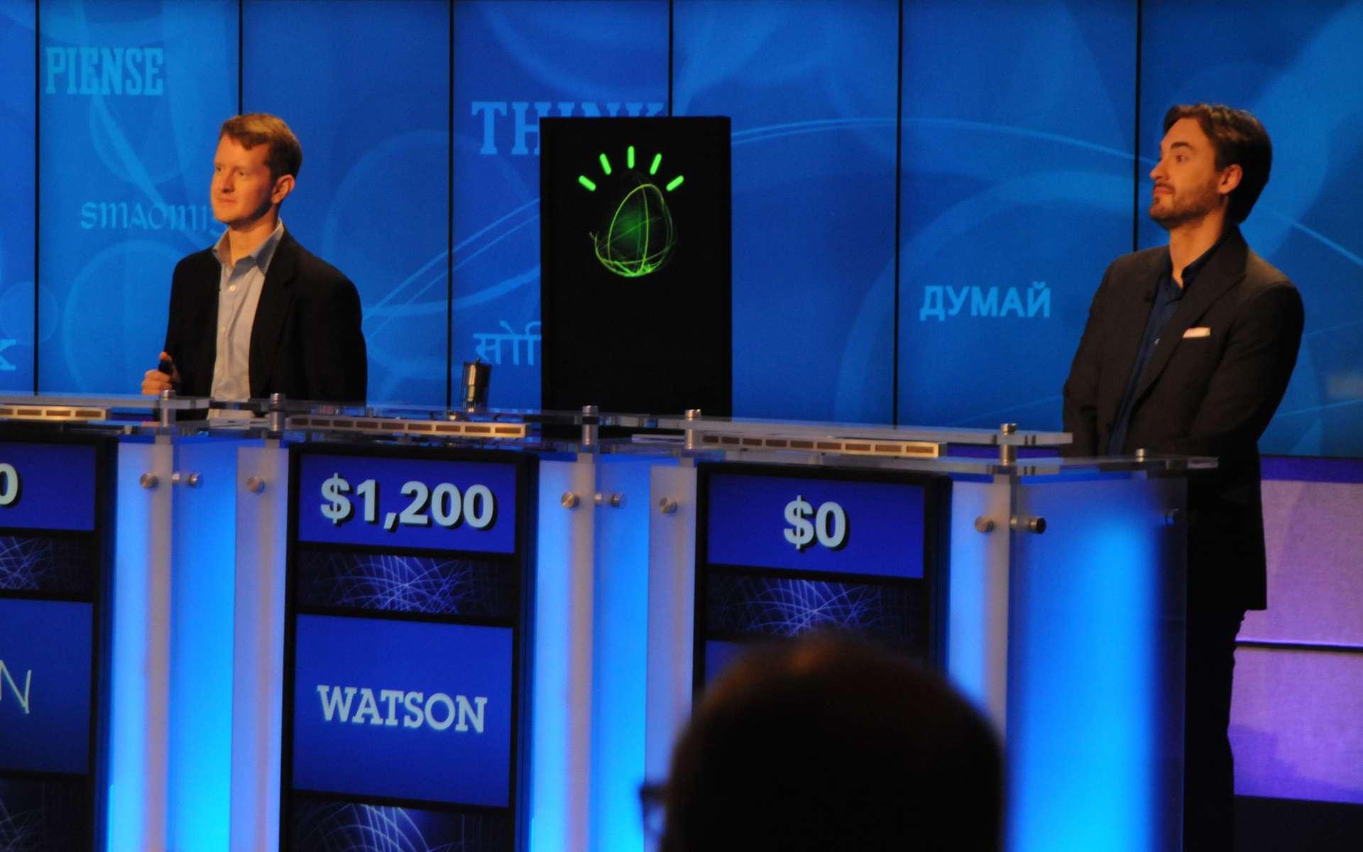 Après avoir démontré sa puissance en battant deux concurrents humains en direct lors du jeu télévisé Jeopardy, Watson a trouvé des applications commerciales très rémunératrices pour IBM dans les domaines de la finance et de la médecine. © IBM
