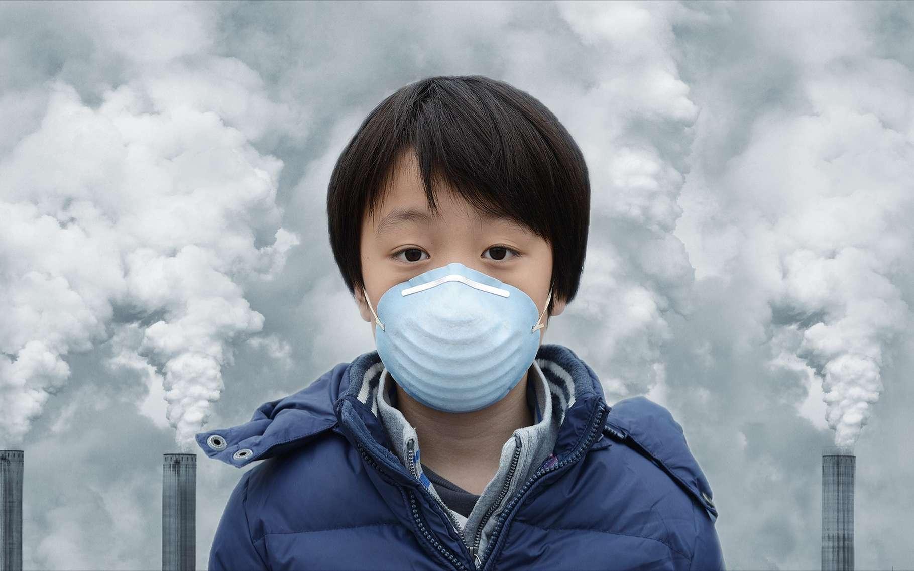 La pollution de l'air atmosphérique touche particulièrement des enfants vivant en Asie. © Hung Chung Chih, Shutterstock