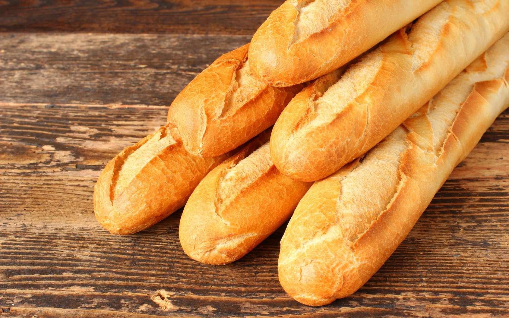 La baguette de pain blanc est un aliment avec un index glycémique (IG) élevé. © fototheobald, Fotolia