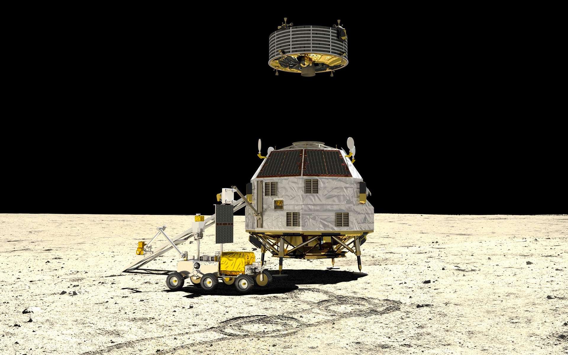Concept à l'étude de la mission Heracles de retour d'échantillons lunaires de l'Agence spatiale européenne. © ESA