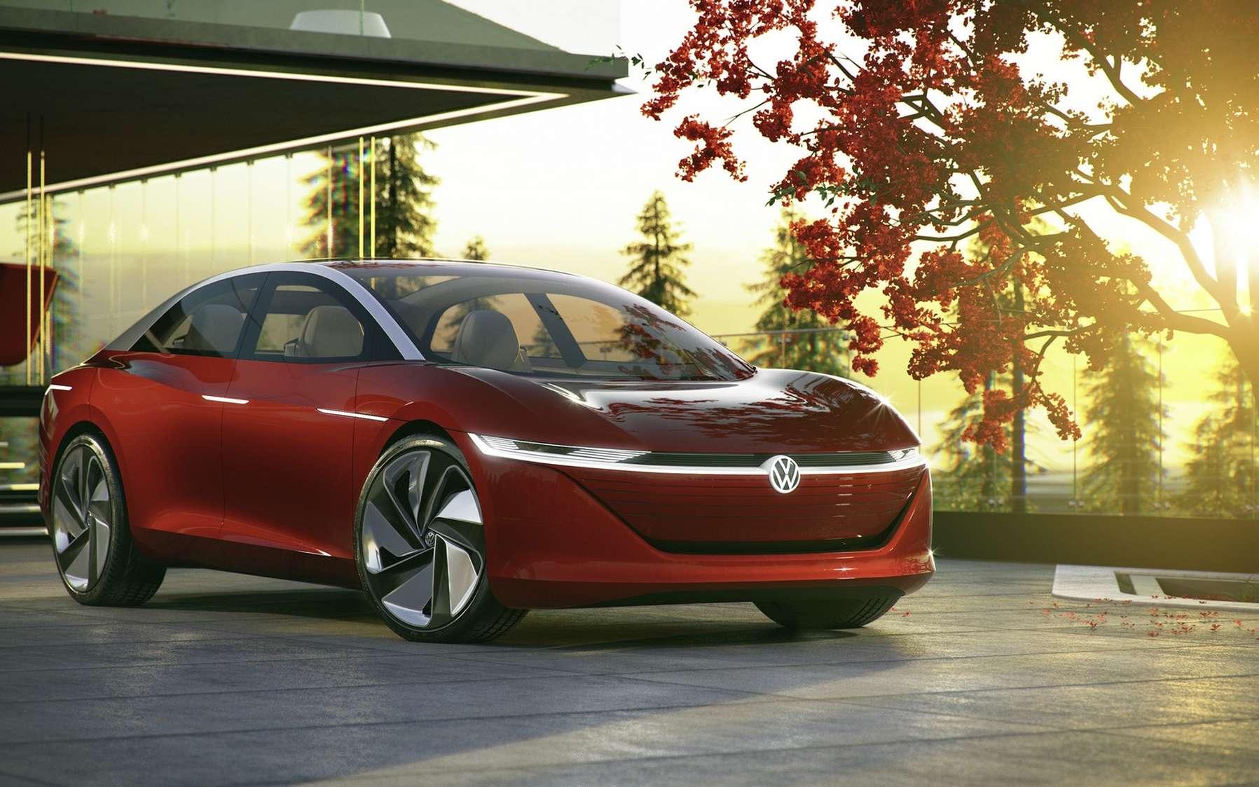 Le concept-car ID Vizzion de Volkswagen. © Volkswagen