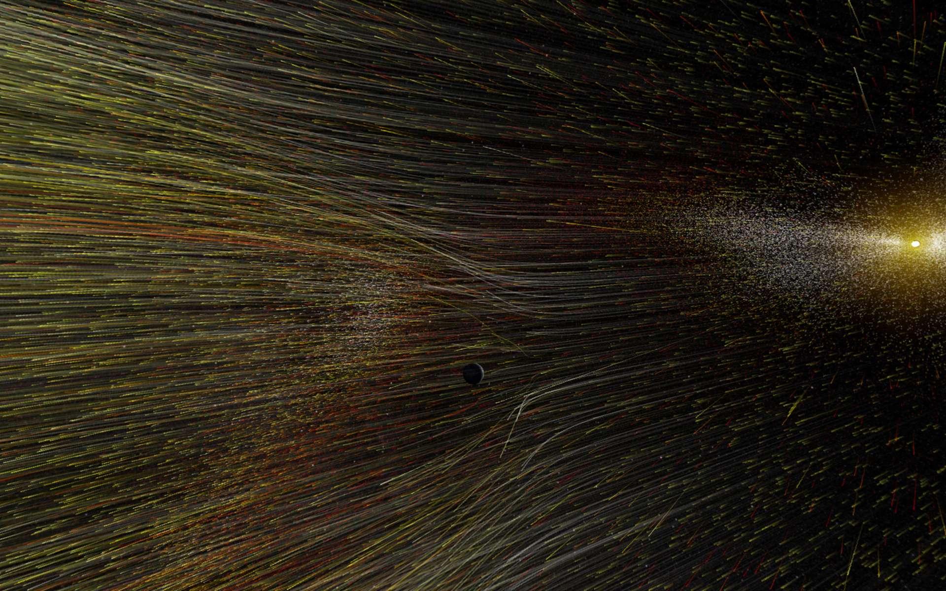 Dans l'espace, le vent solaire fait la pluie et le beau temps en quelque sorte. © Nasa